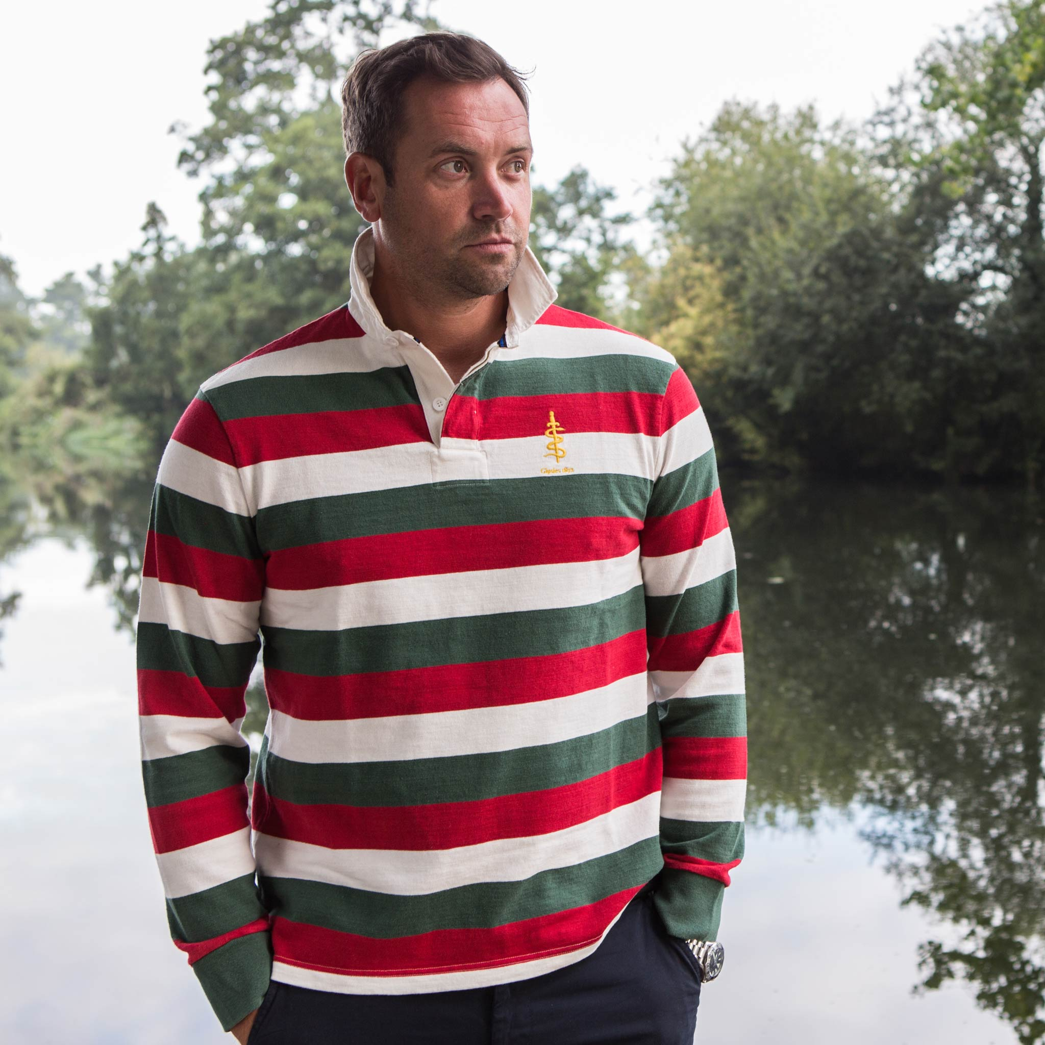 Gipsies 1871 Rugby Shirt - model