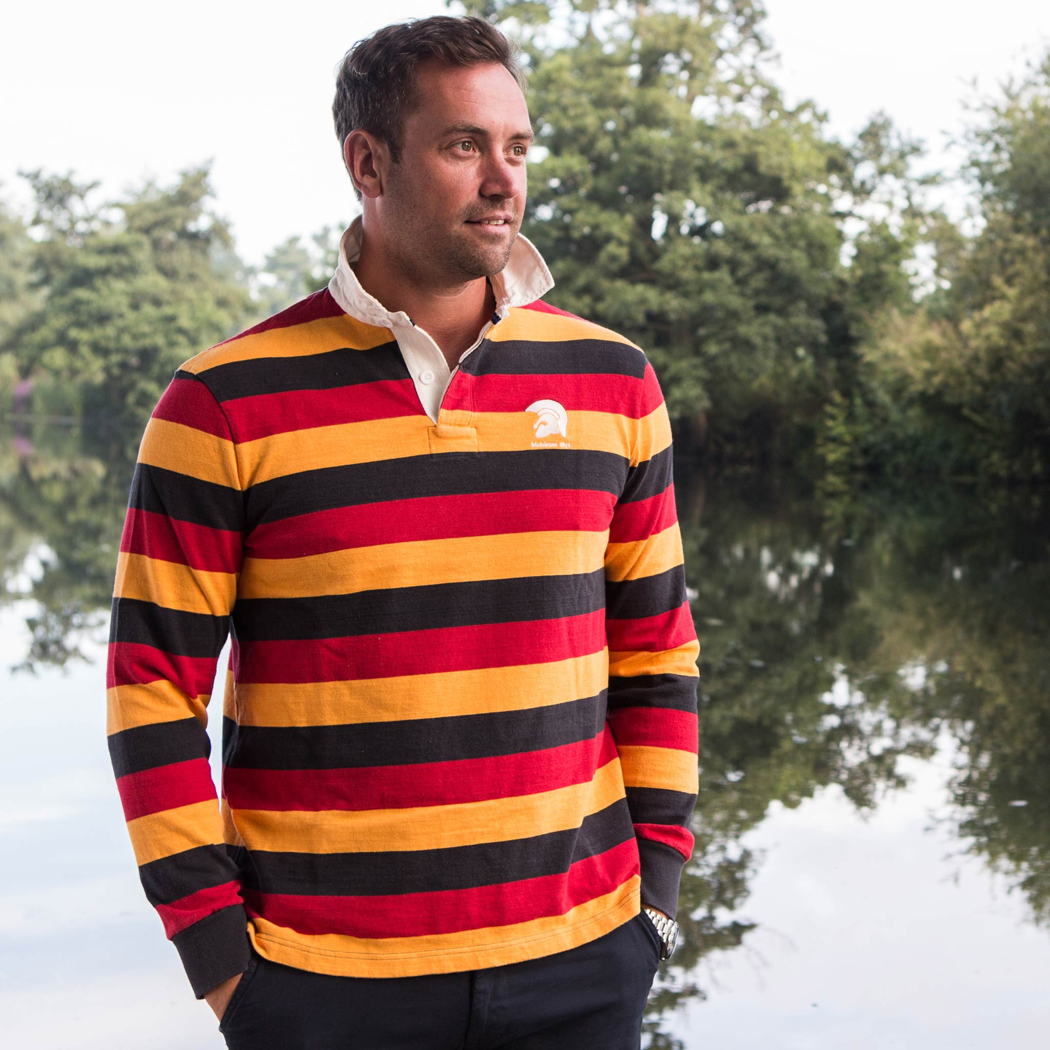 Mohicans 1871 Rugby Shirt - model