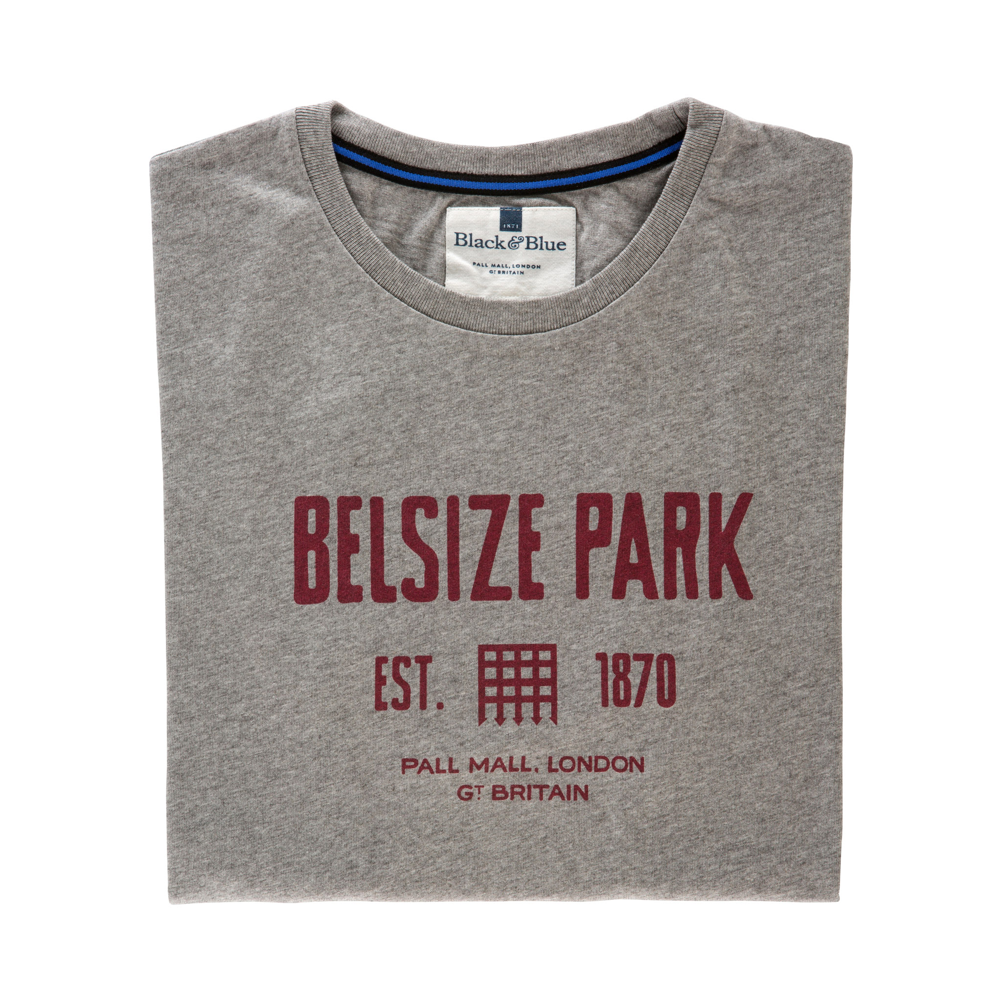 Belsize Park Grey T-shirt - folded