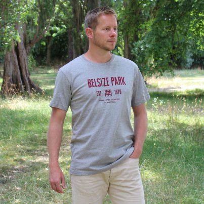 Belsize Park Grey T-shirt Model