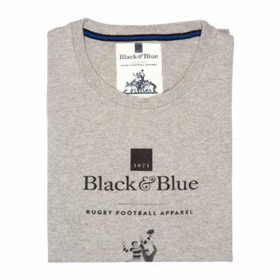 BB1871 Grey Logo T-shirt - Folded