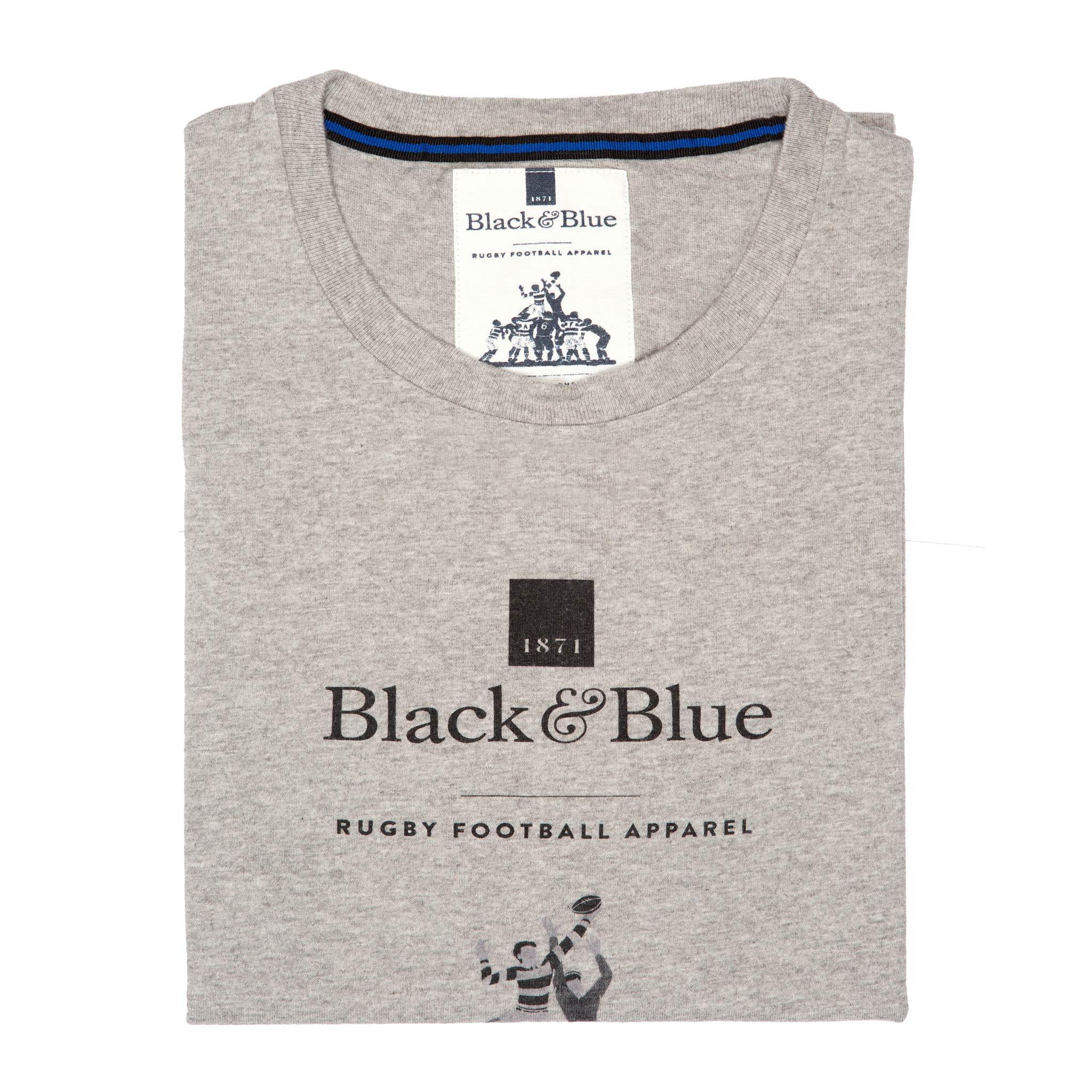 BB1871 Grey logo T-shirt - folded