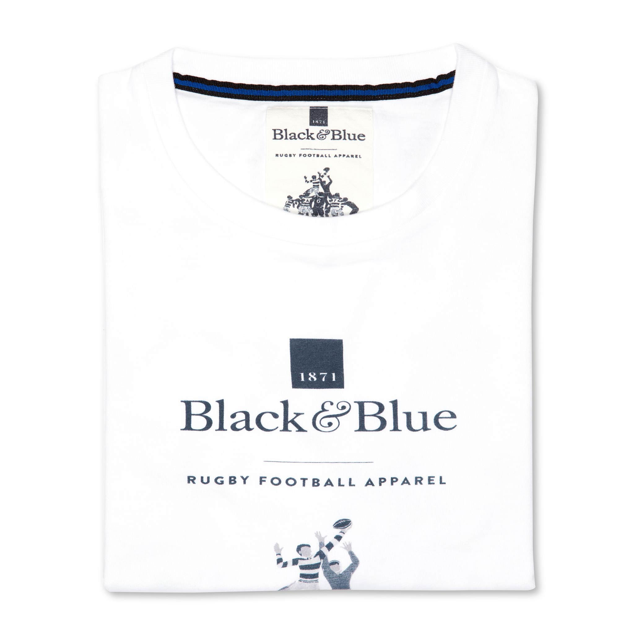 BB1871 White logo T-shirt - folded