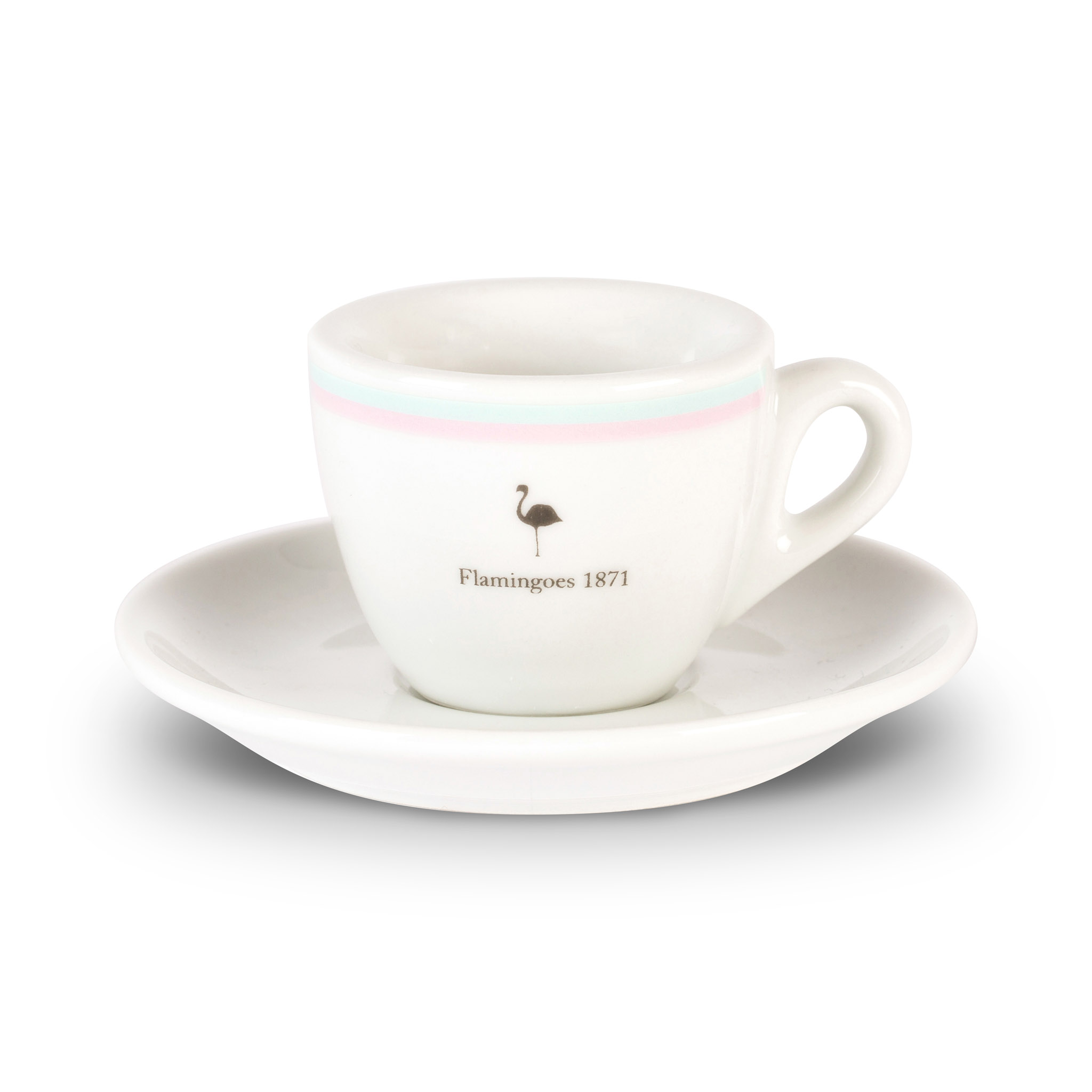 Flamingoes espresso cup and saucer