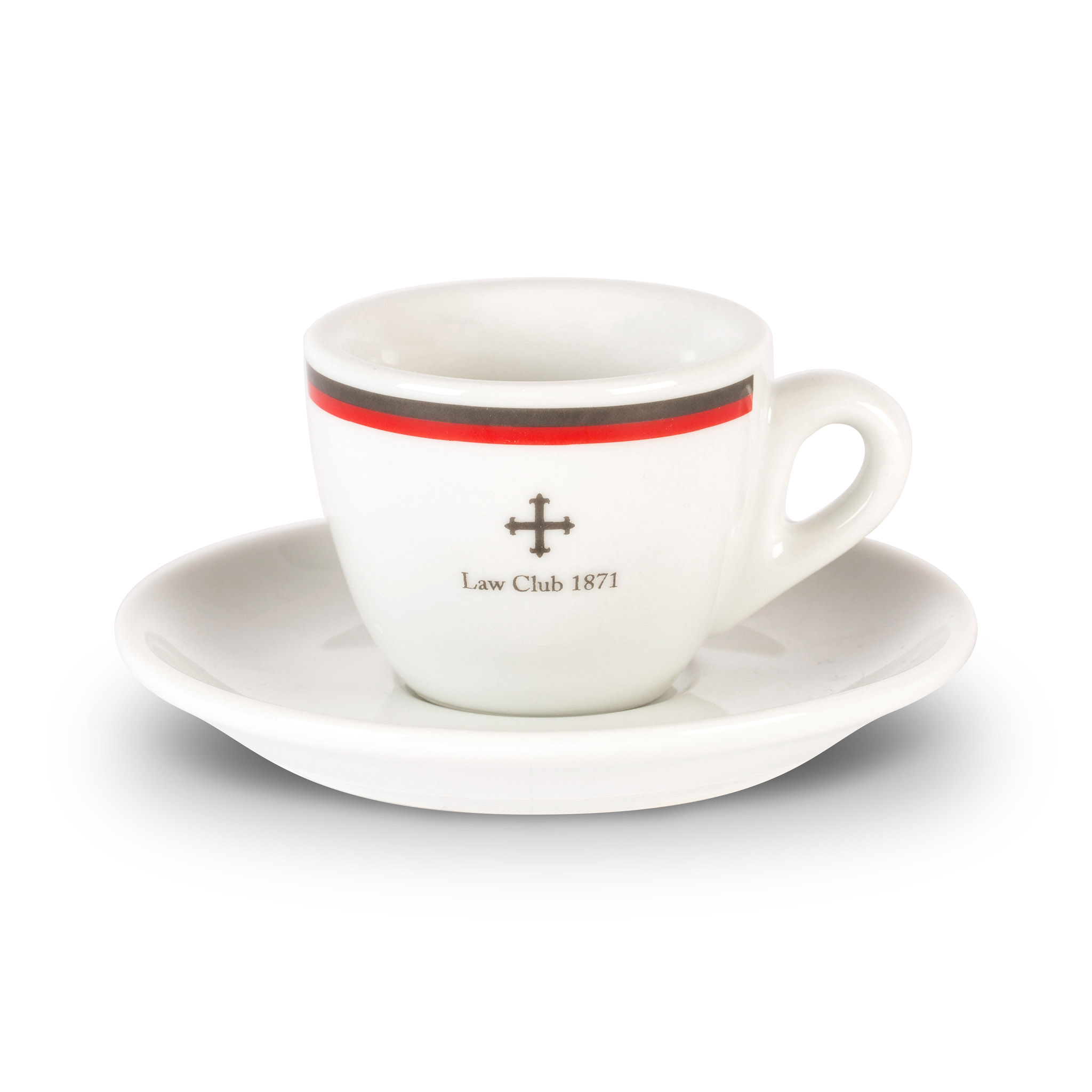 Law Club espresso cup and saucer