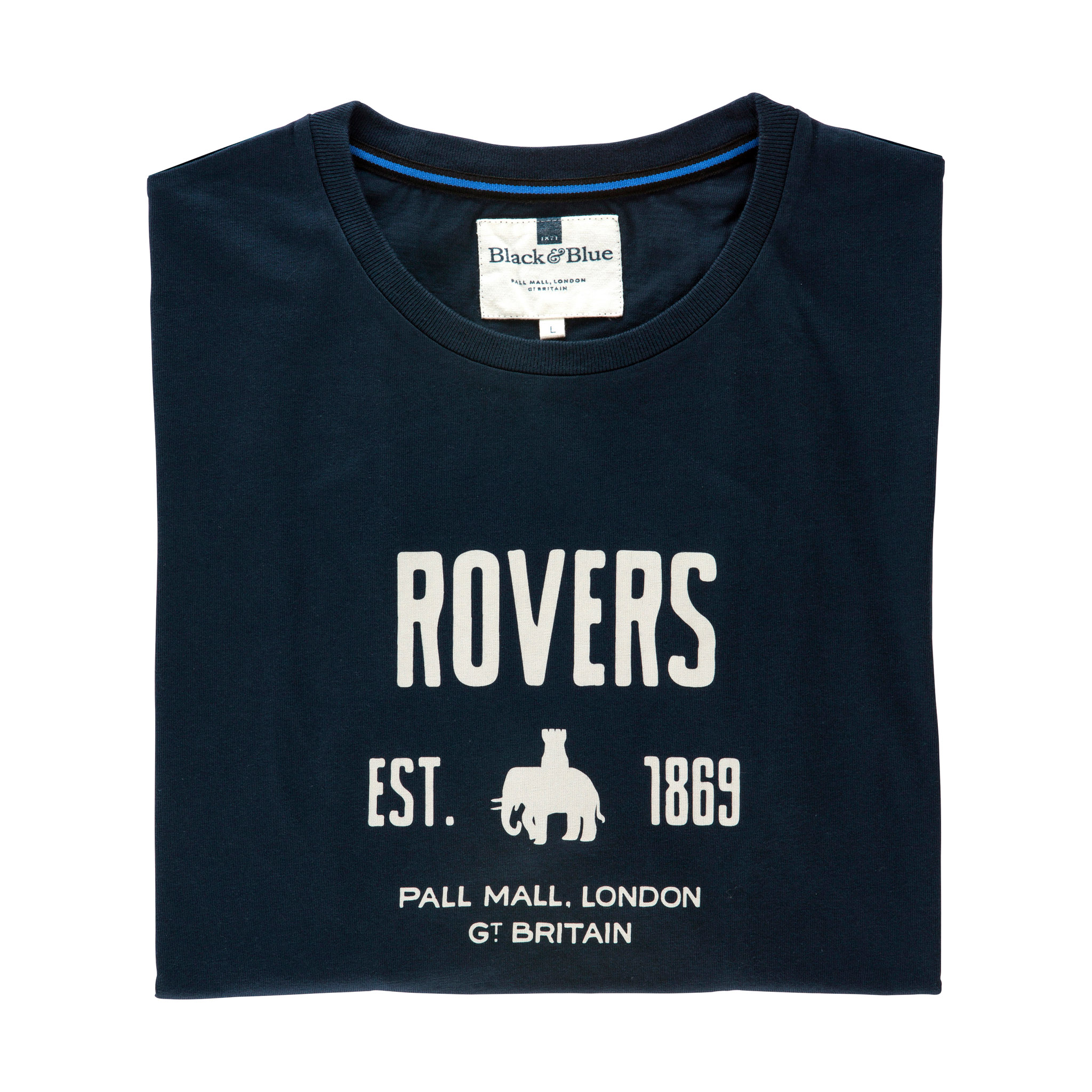 Rovers Navy T-shirt - folded