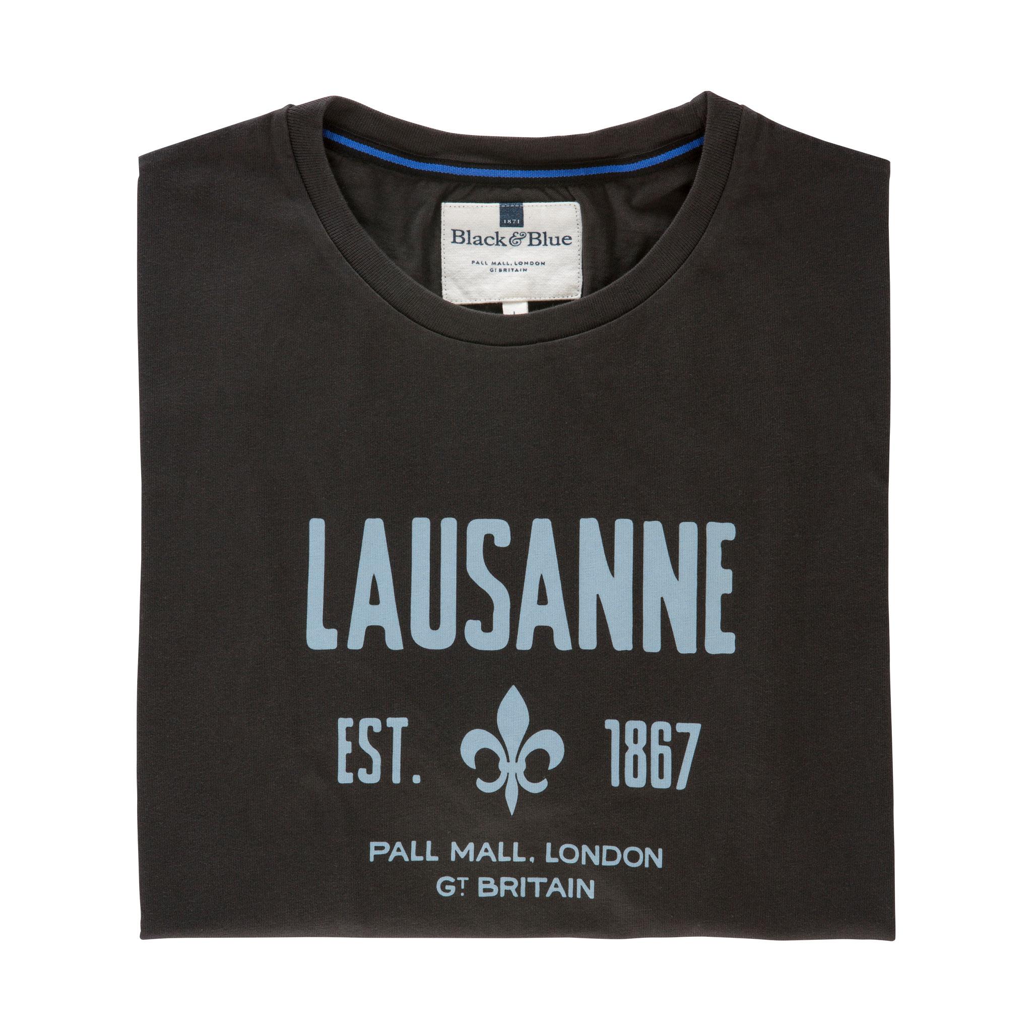 Lausanne Asphalt T-shirt - folded