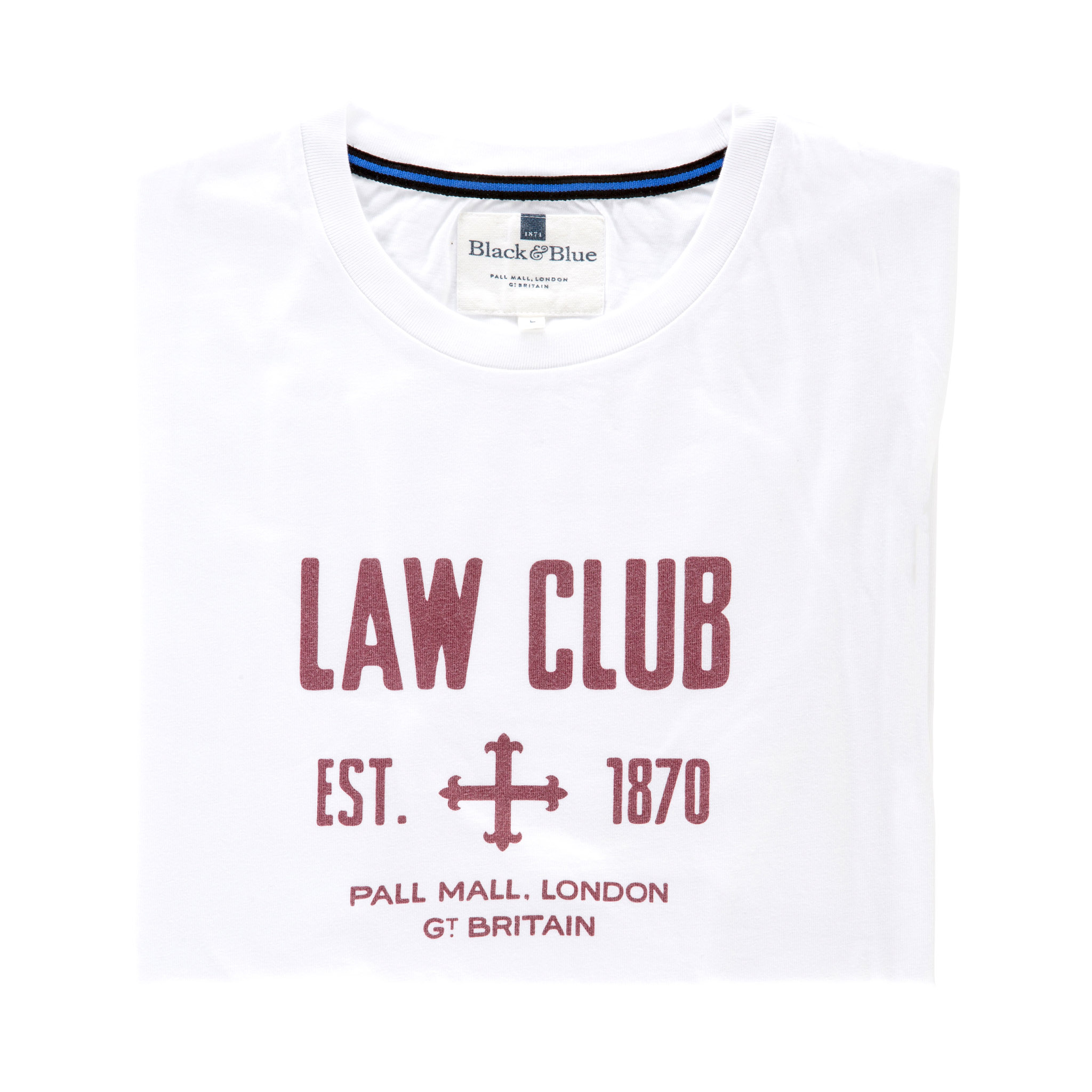 Law Club White T-shirt - folded