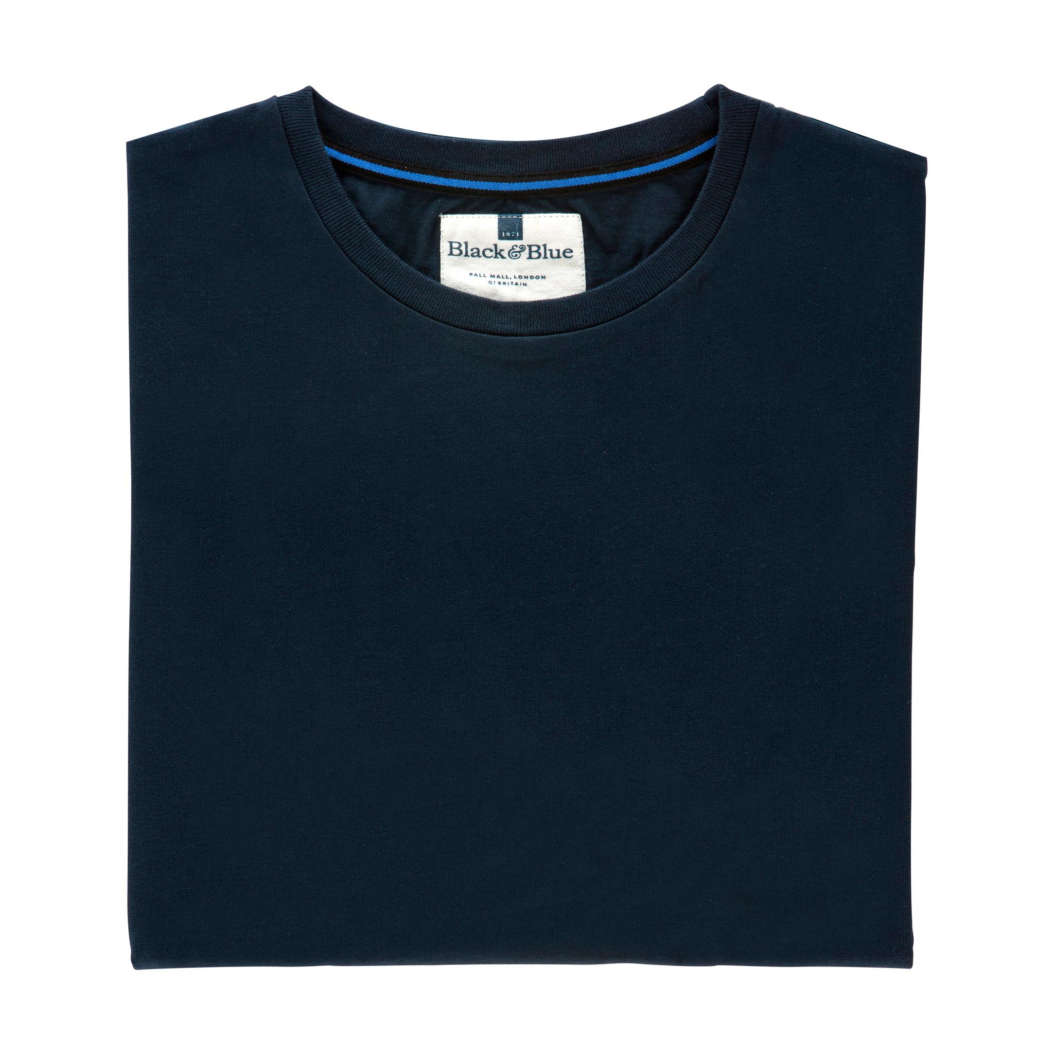 Navy Organic cotton T-shirt - Folded