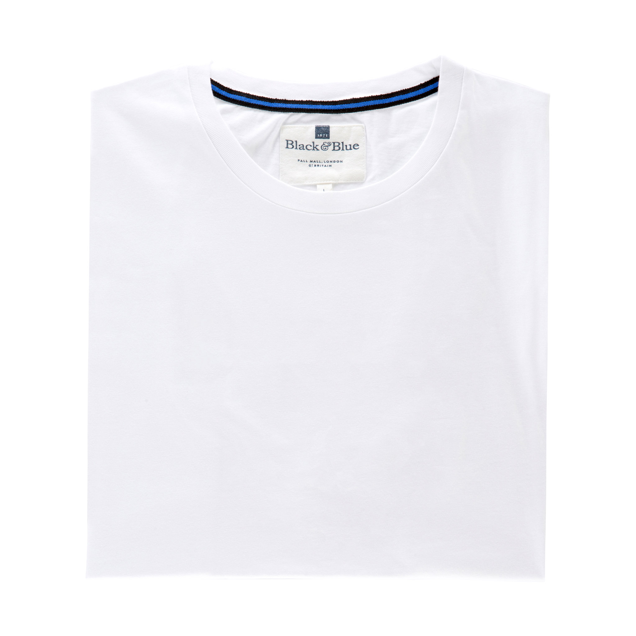 White Organic cotton T-shirt - Folded