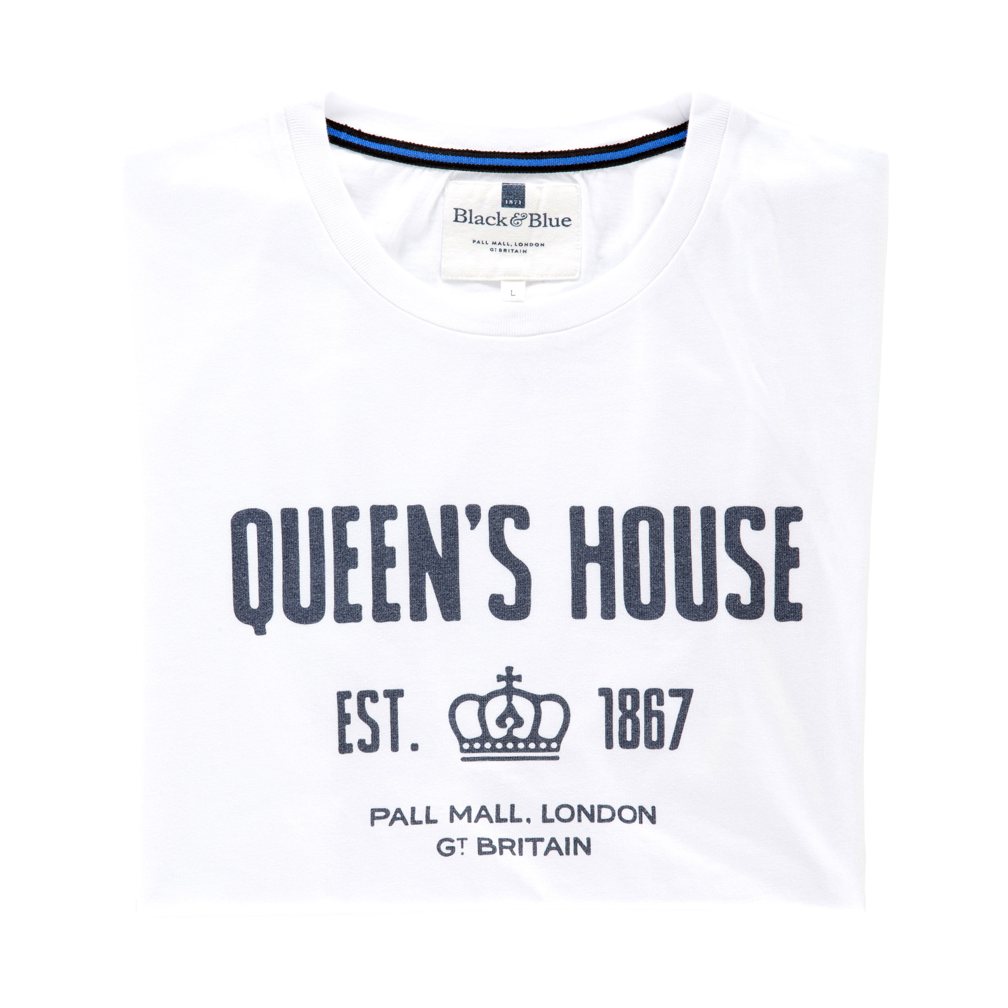 Queen's House White T-shirt - folded
