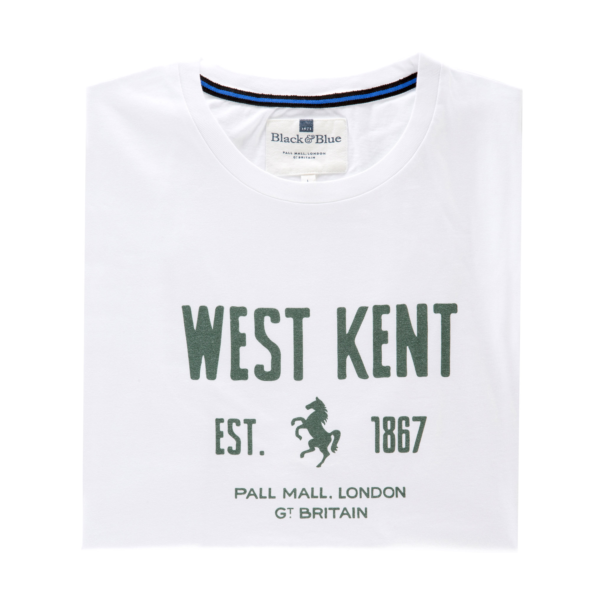 West Kent White T-shirt - folded