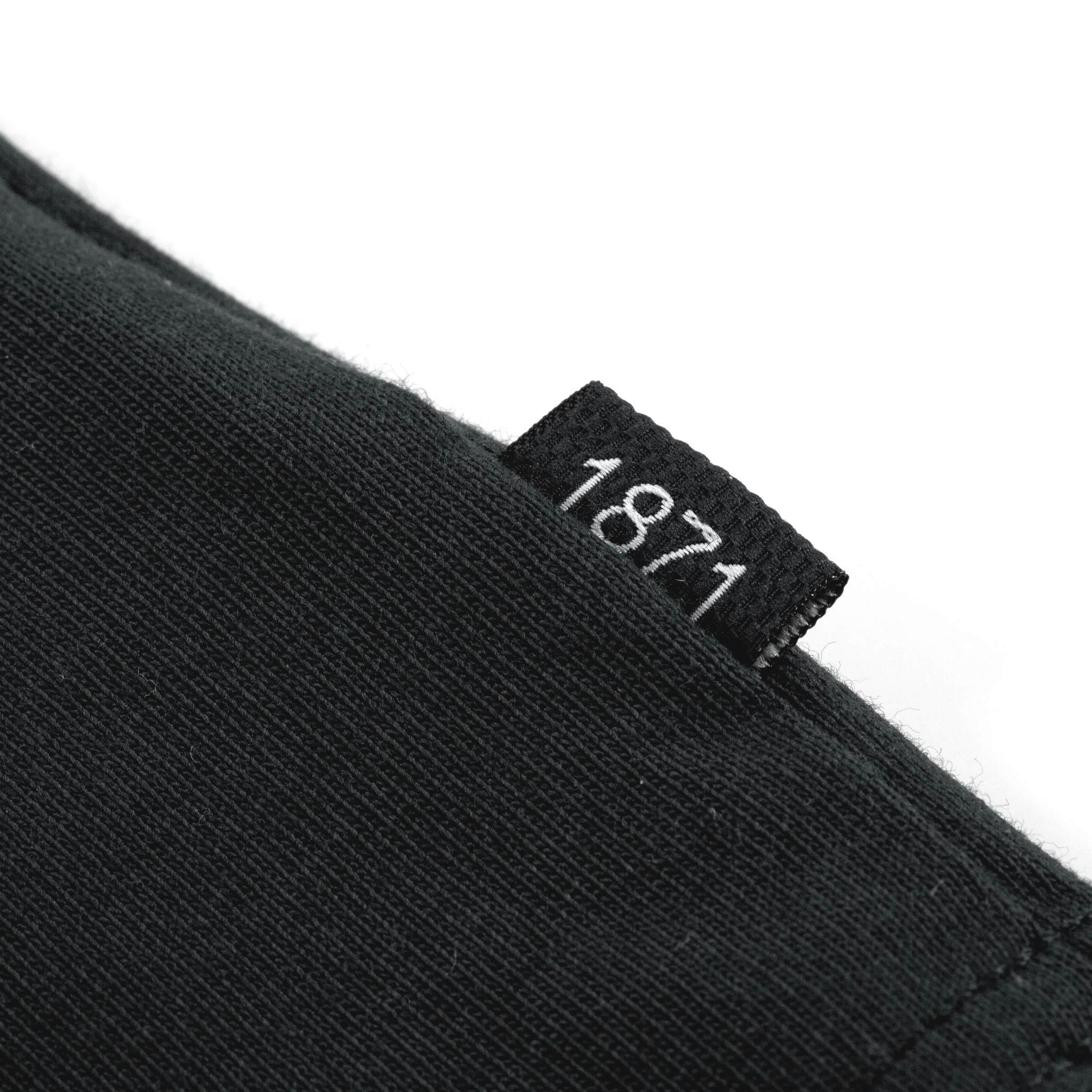1871 Asphalt T-shirt tag