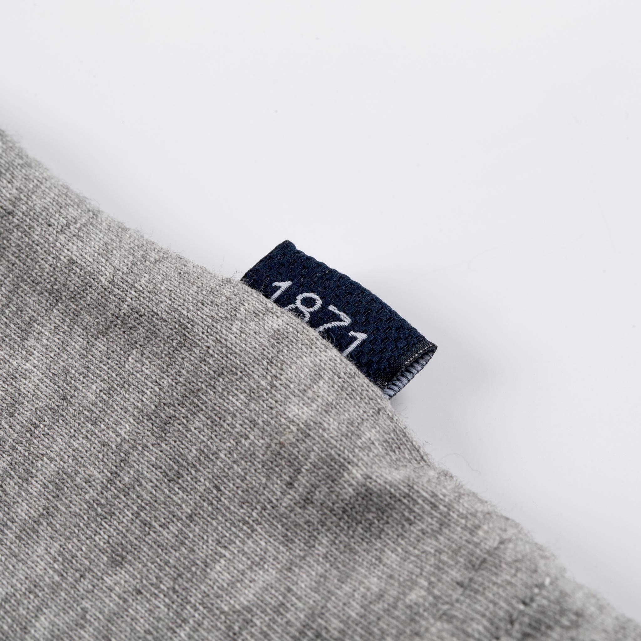 1871 Grey T-shirt tag