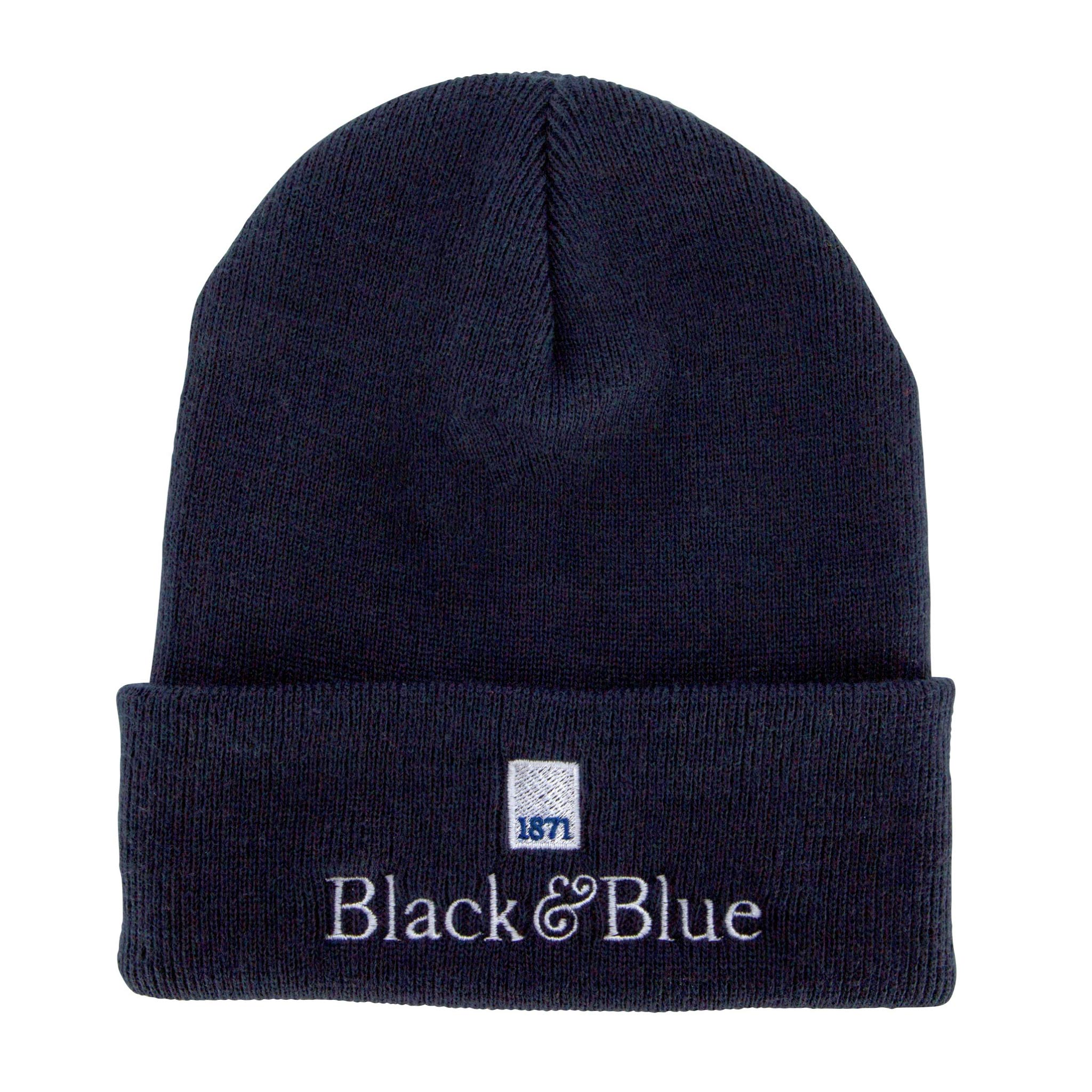 Black and Blue 1871 beanie