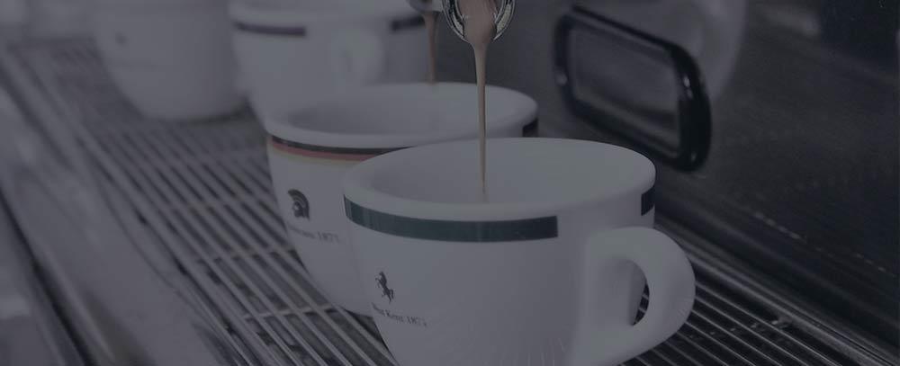 Espresso cups and espresso machine