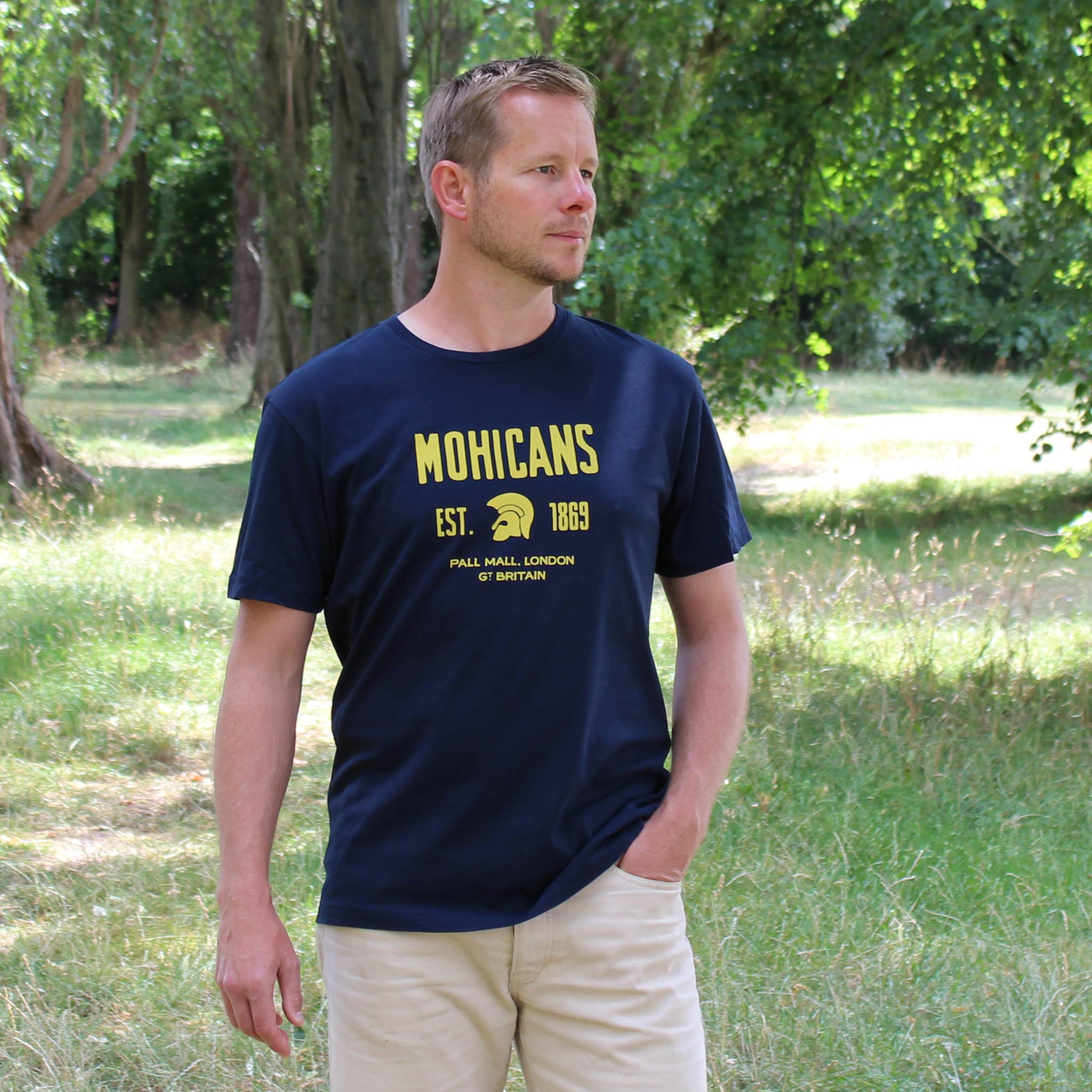 Mohicans Navy T-shirt model