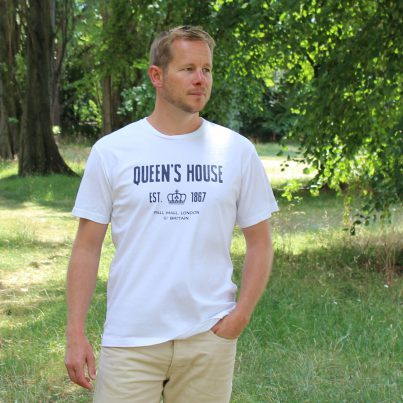 Queen's House White T-shirt Model
