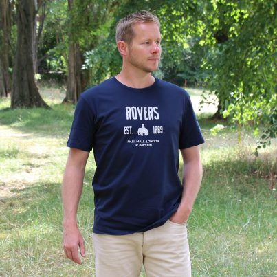 Rovers Navy T-shirt Model