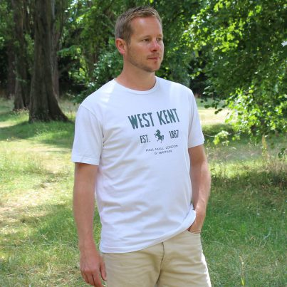 West Kent White T-shirt Model