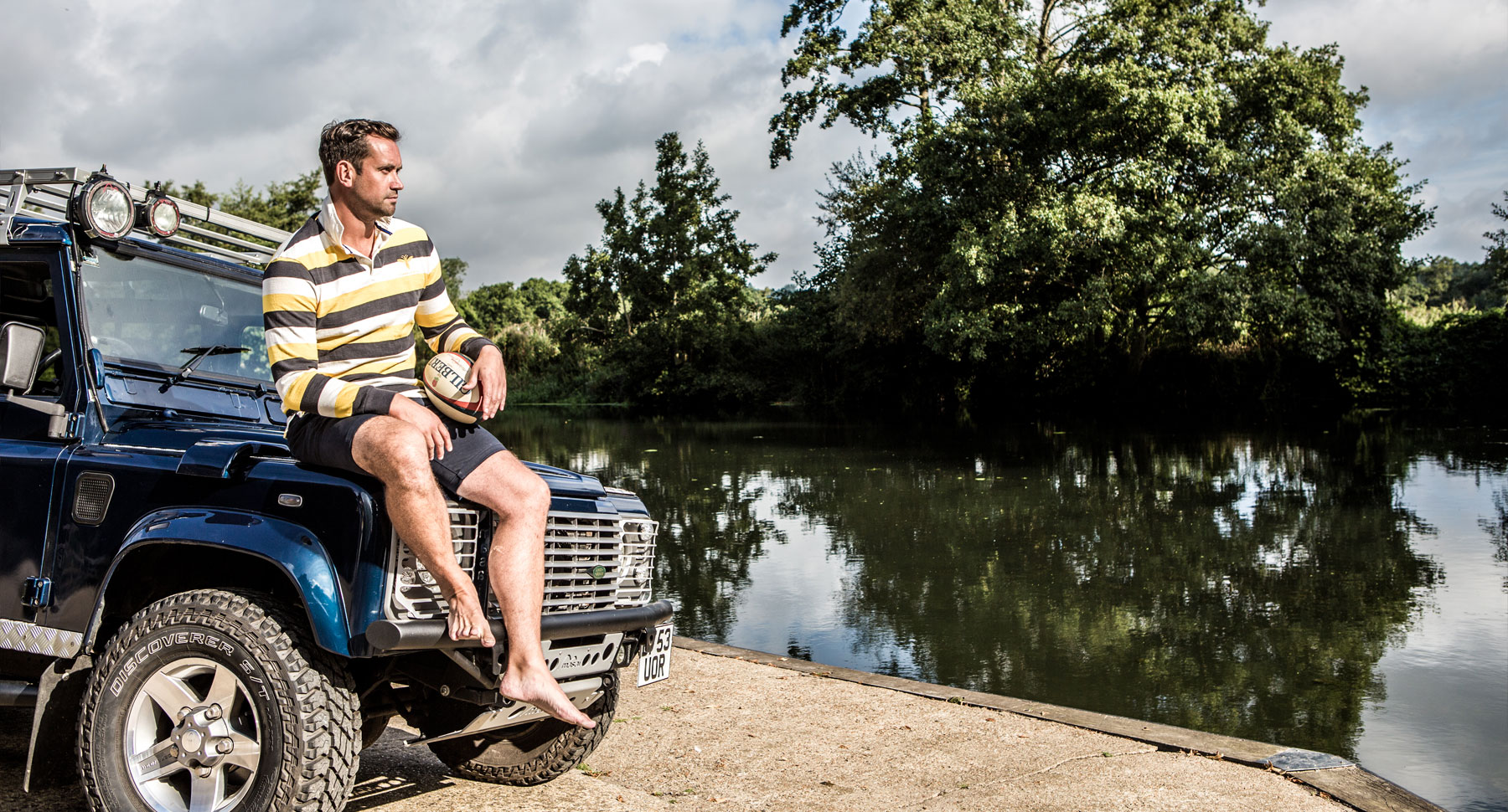 Rugby Shirt and Land Rover Defender
