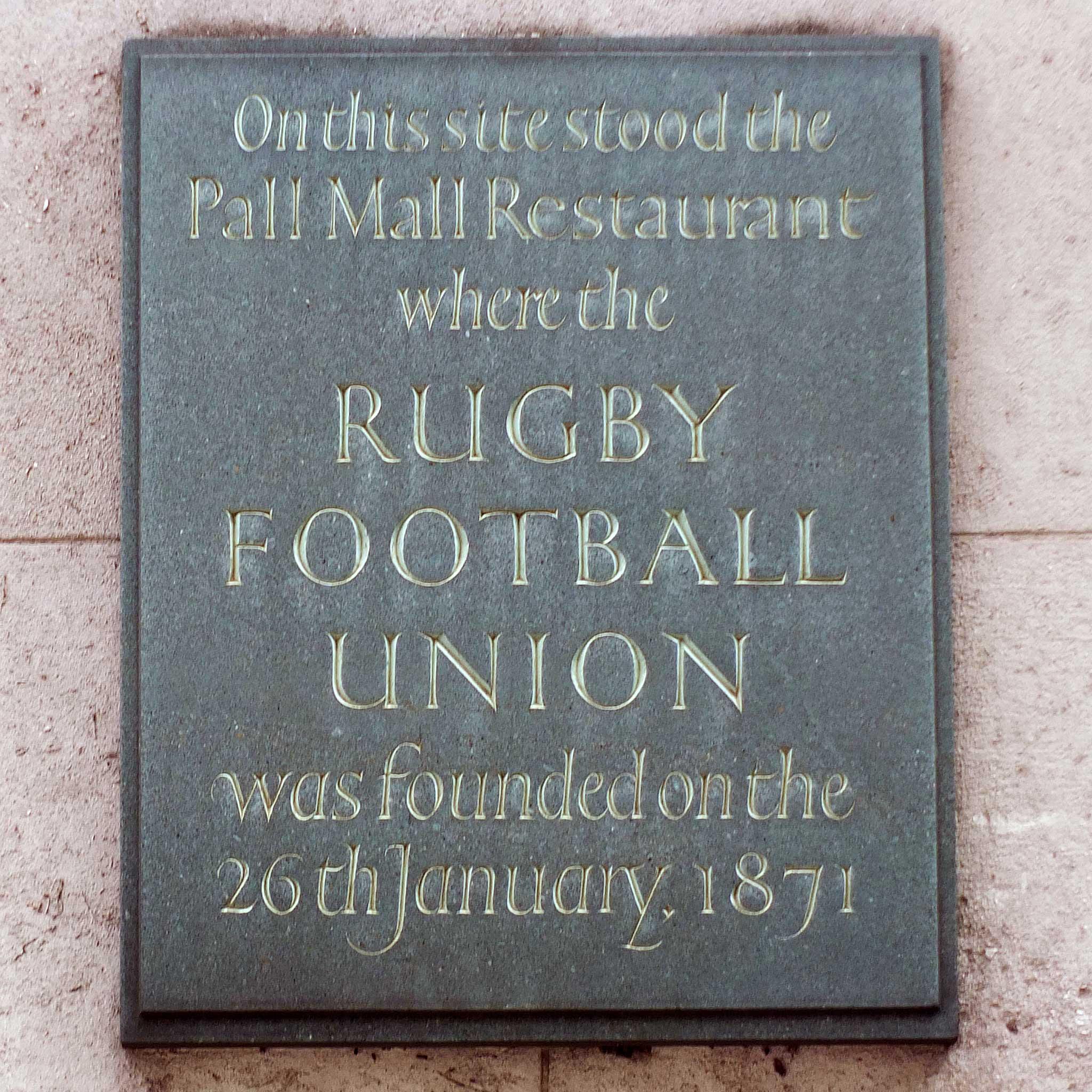 RFU commemorative plaque