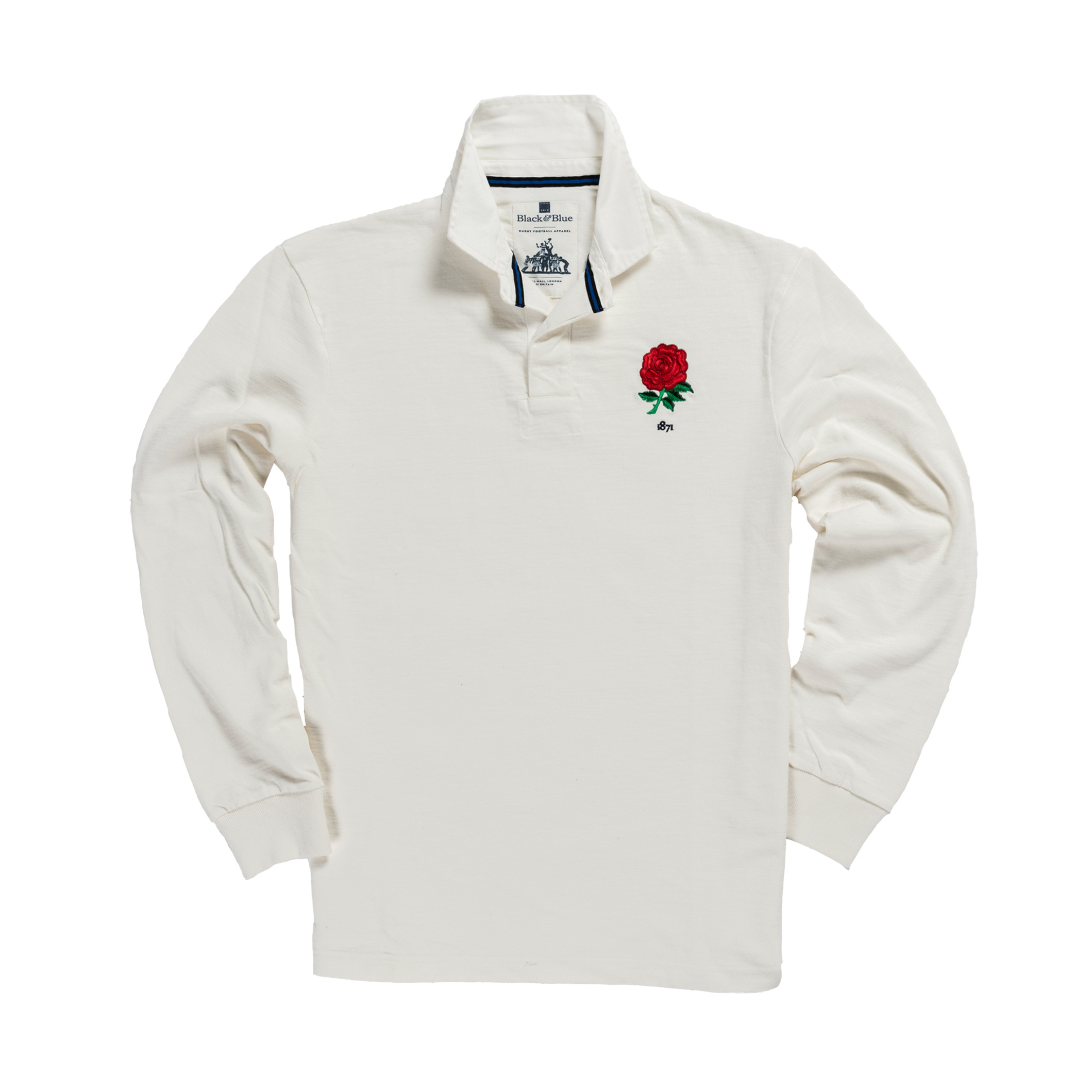 England 1871 Vintage Rugby Shirt_Front