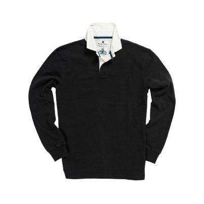 CLASSIC BLACK 1871 RUGBY SHIRT