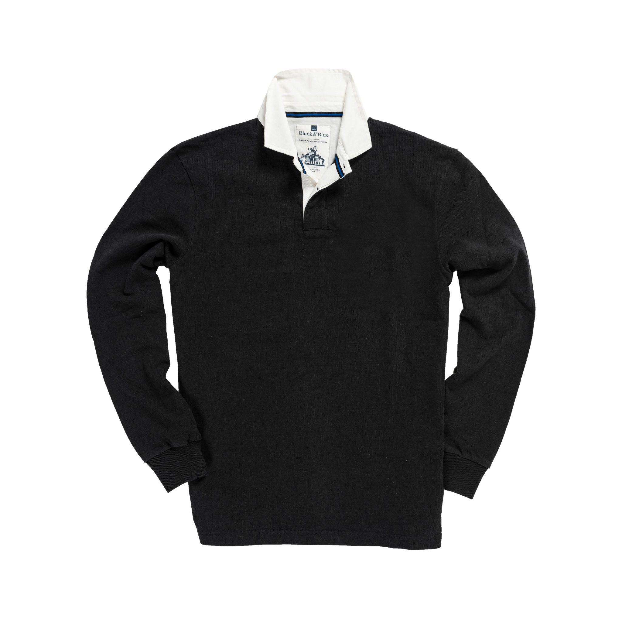 Classic Black 1871 Vintage Rugby Shirt