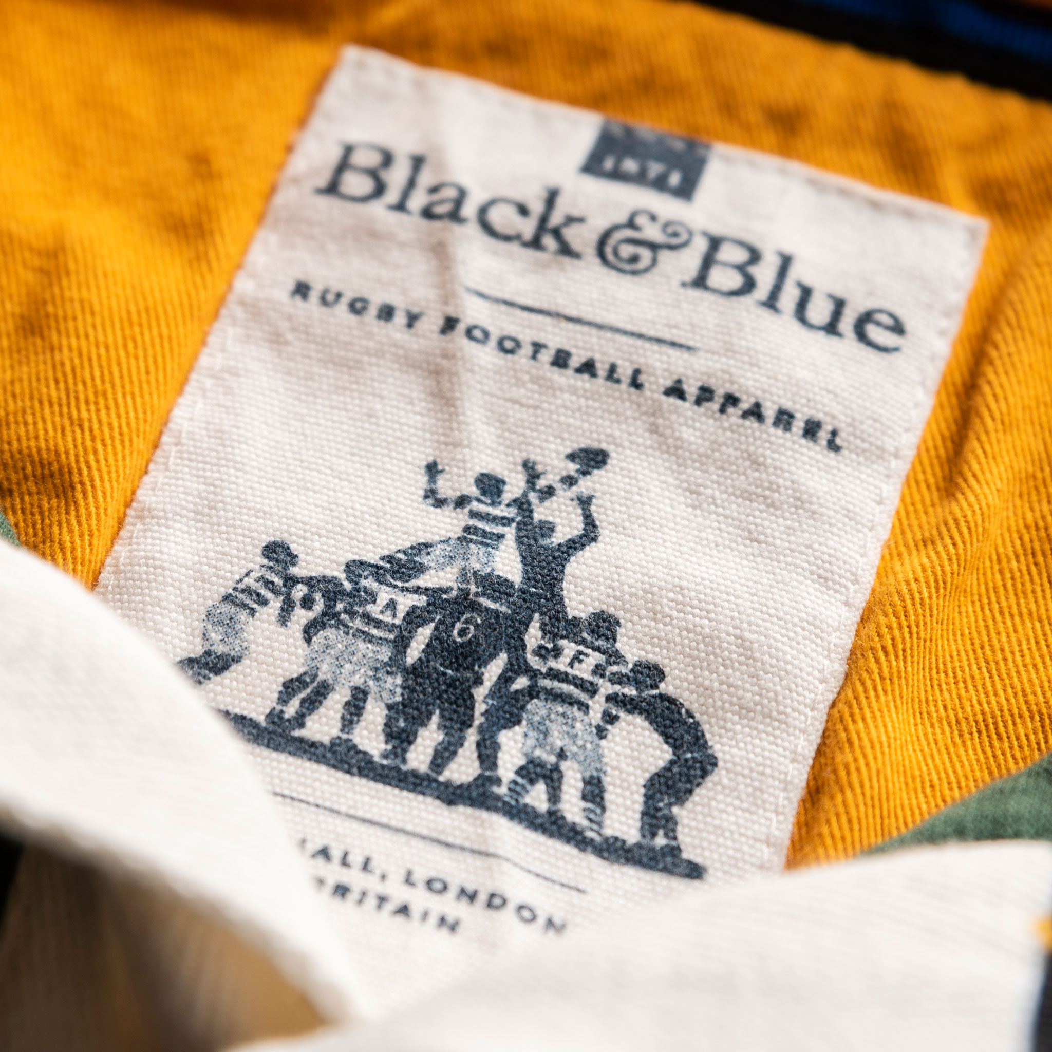 Classic Green with Yellow Collar 1871 Vintage Rugby Shirt_BB Label