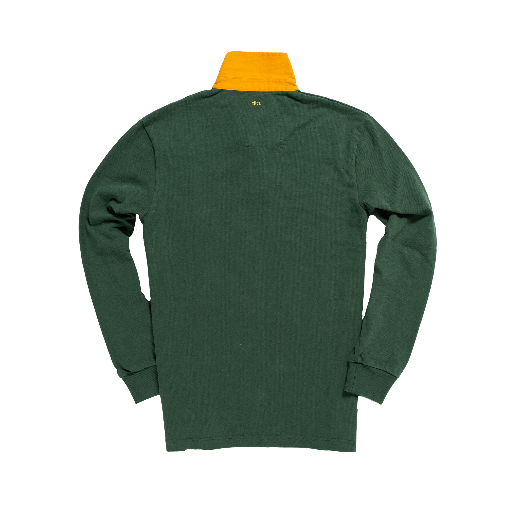 Classic Green with Yellow Collar 1871 Vintage Rugby Shirt