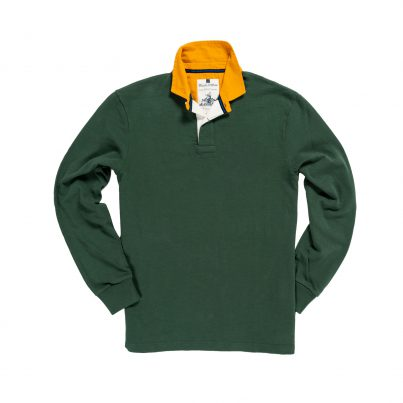 CLASSIC GREEN WITH GOLD COLLAR 1871 RUGBY SHIRT