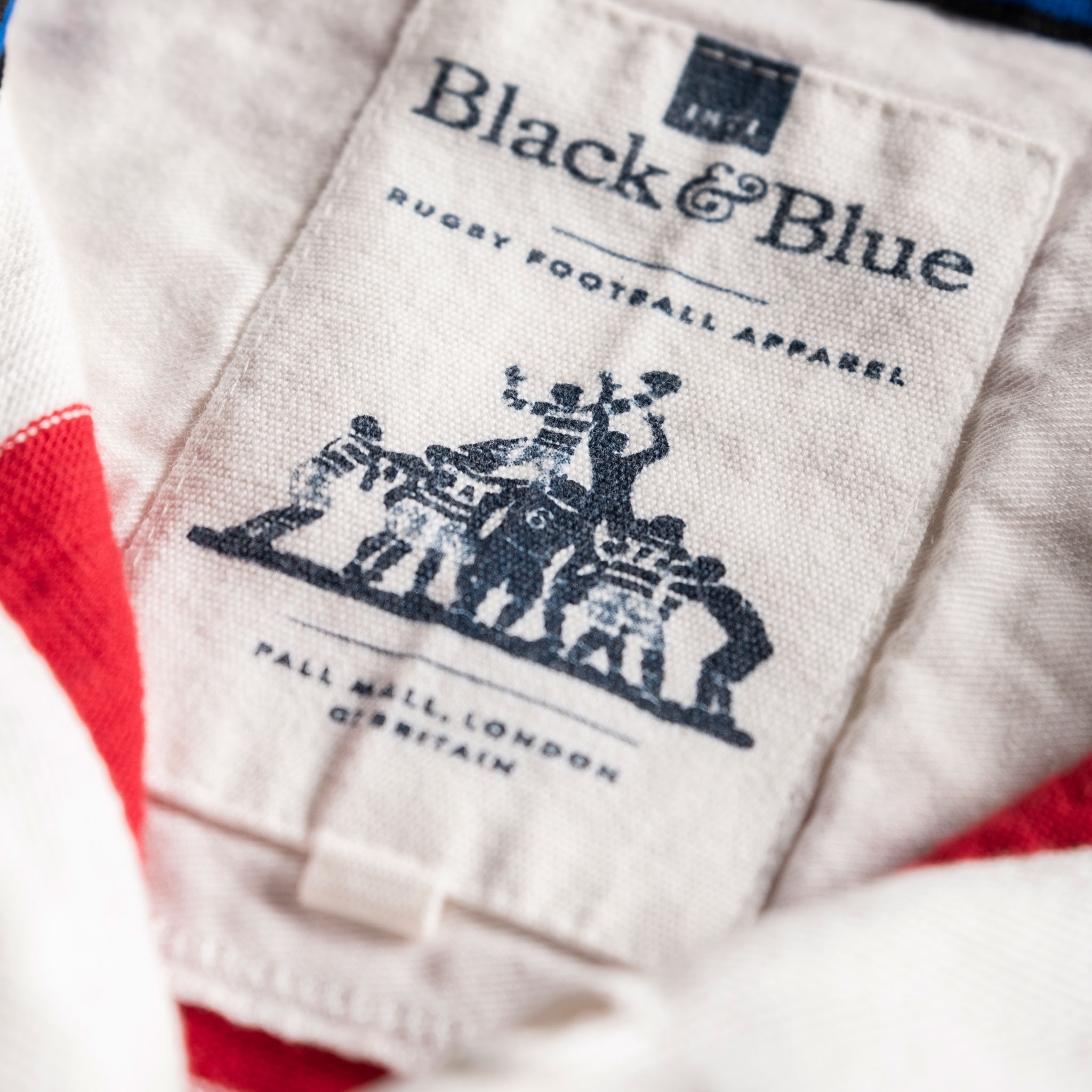 Classic Red and White 1871 Vintage Rugby Shirt_BB Label