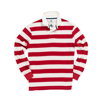 CLASSIC RED & WHITE 1871 RUGBY SHIRT