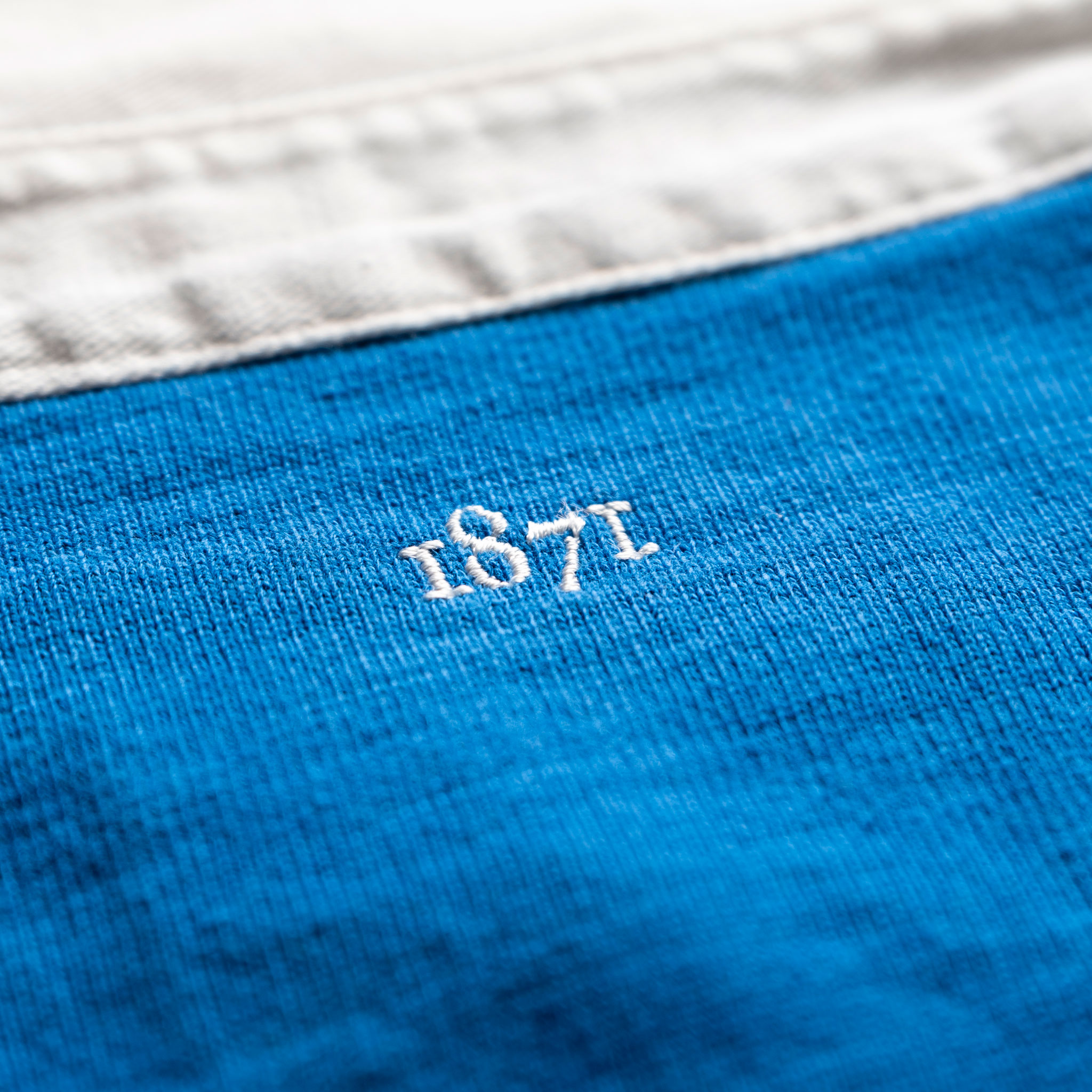 Classic Royal Blue 1871 Vintage Rugby Shirt_1871