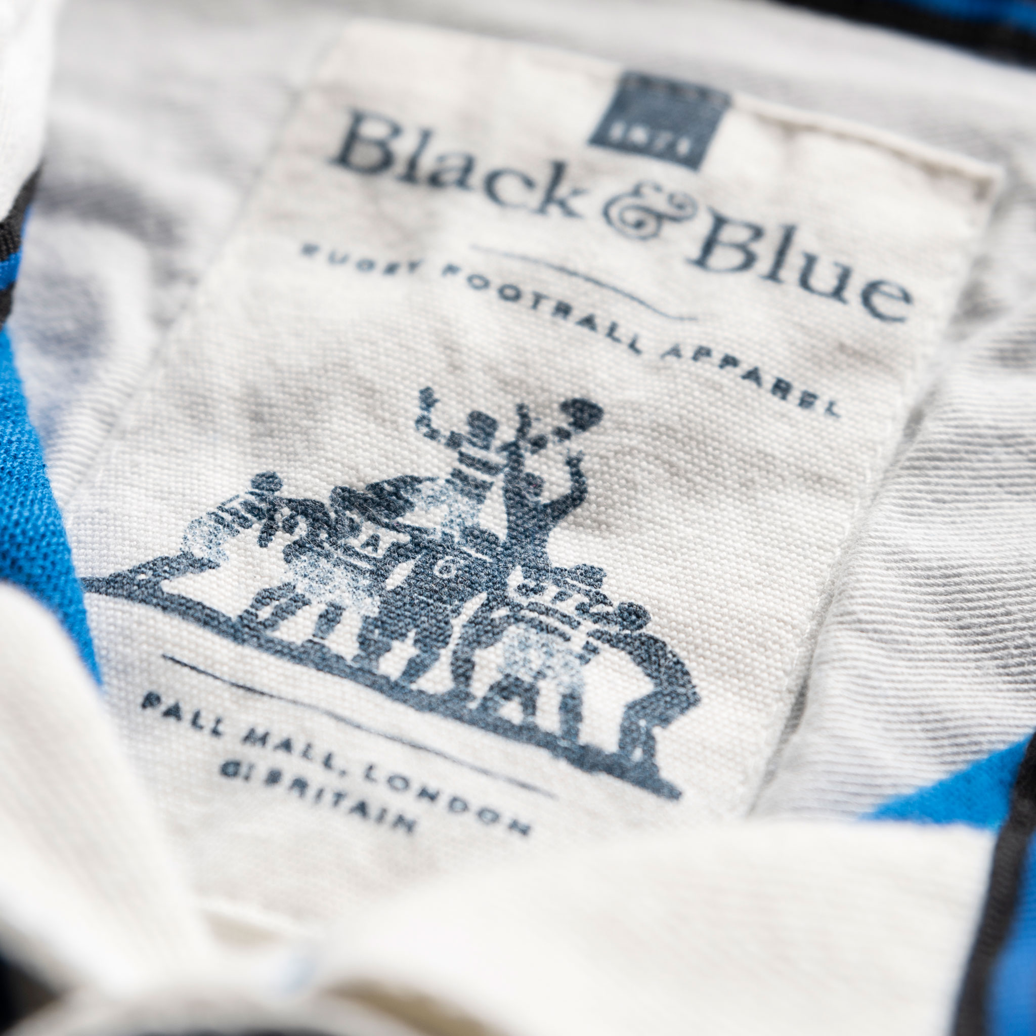Classic Royal Blue 1871 Vintage Rugby Shirt_BB Label