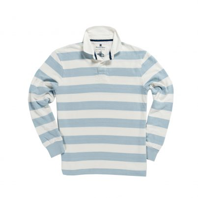 CLASSIC SKY BLUE & WHITE 1871 RUGBY SHIRT