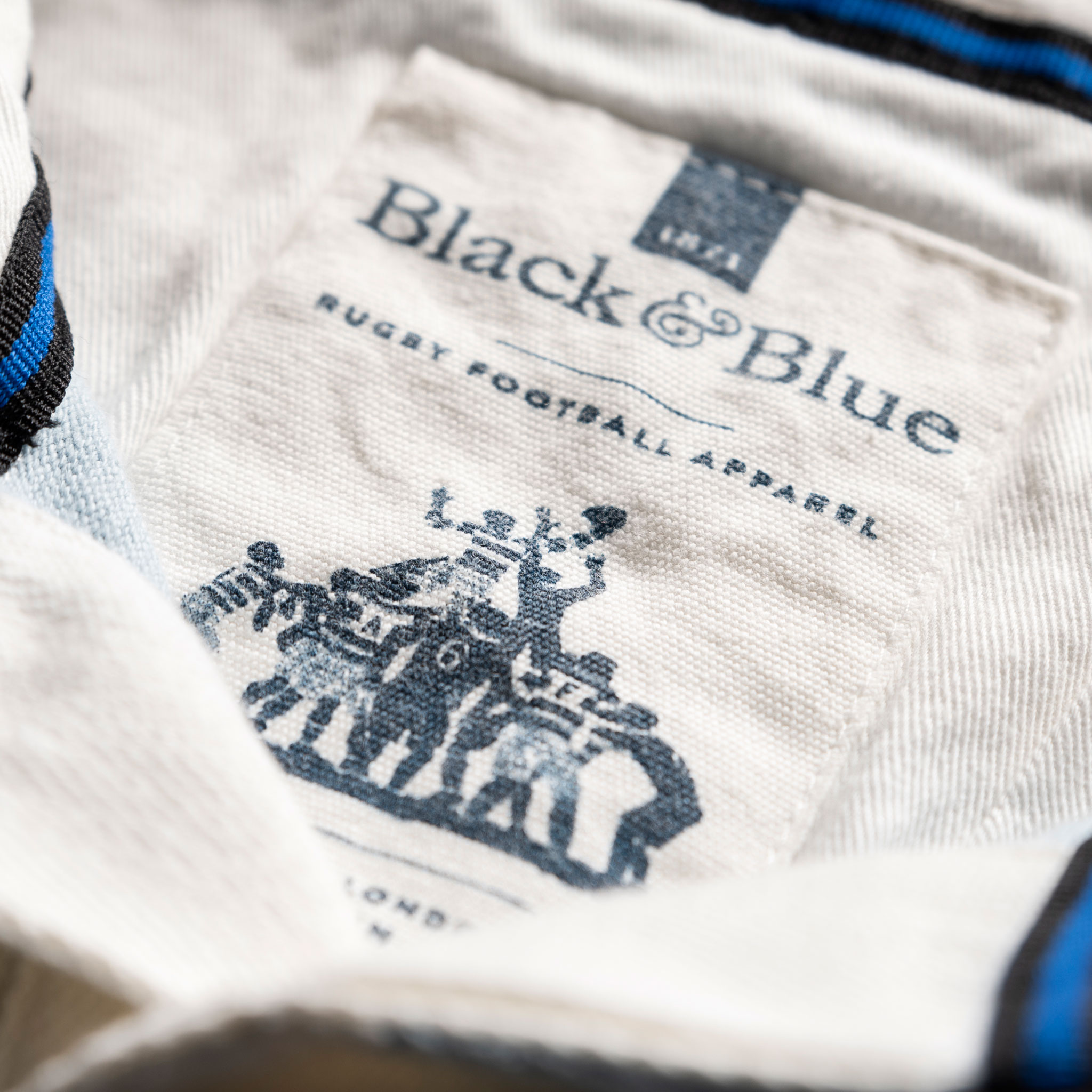 Classic Sky Blue 1871 Vintage Rugby Shirt_BB Label