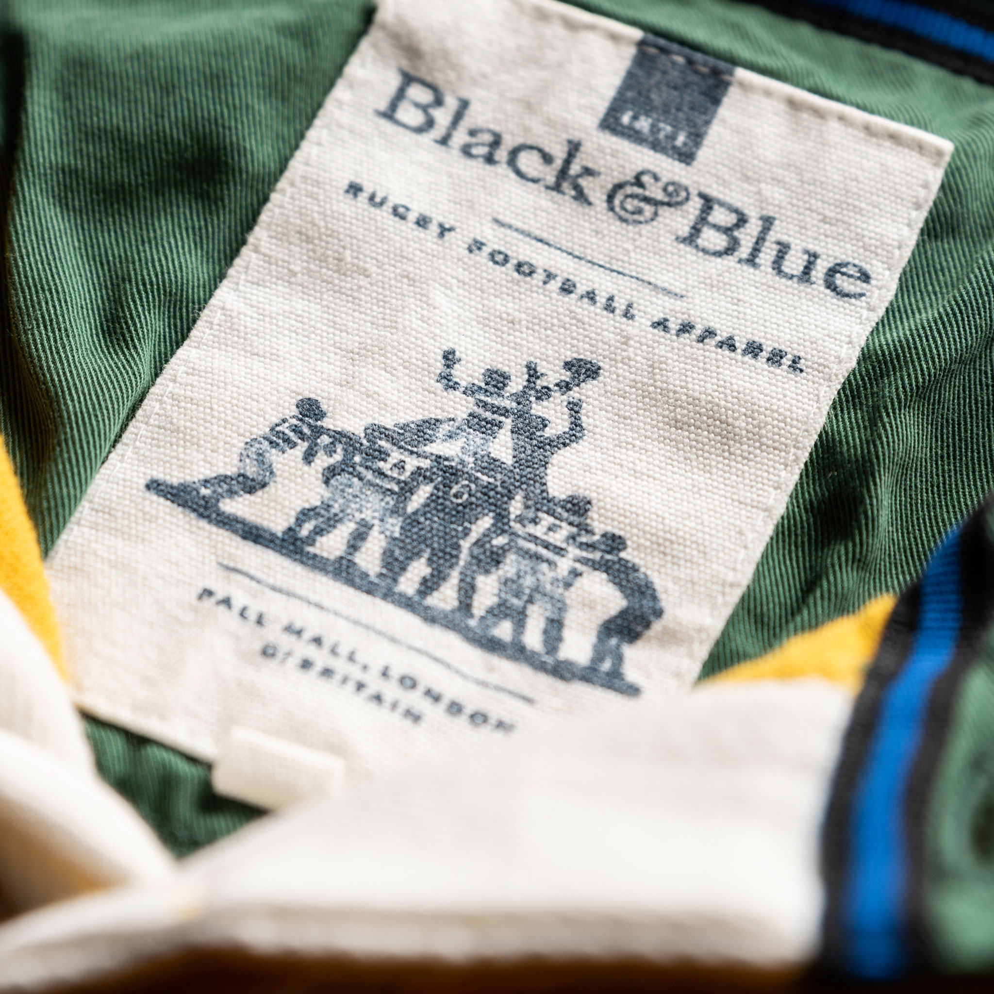 Classic Yellow with Green Collar 1871 Vintage Rugby Shirt_BB Label