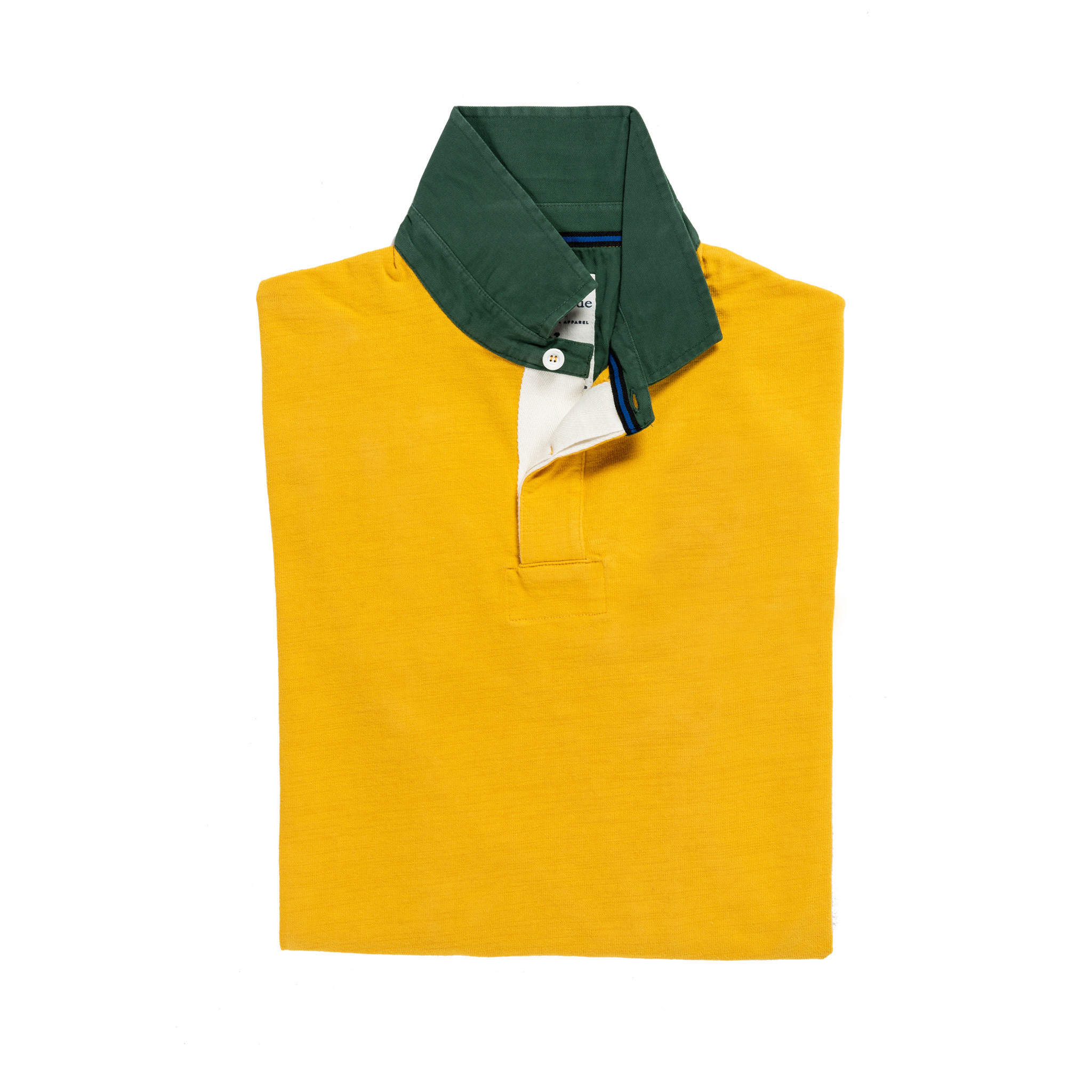 Classic Yellow with Green Collar 1871 Vintage Rugby Shirt
