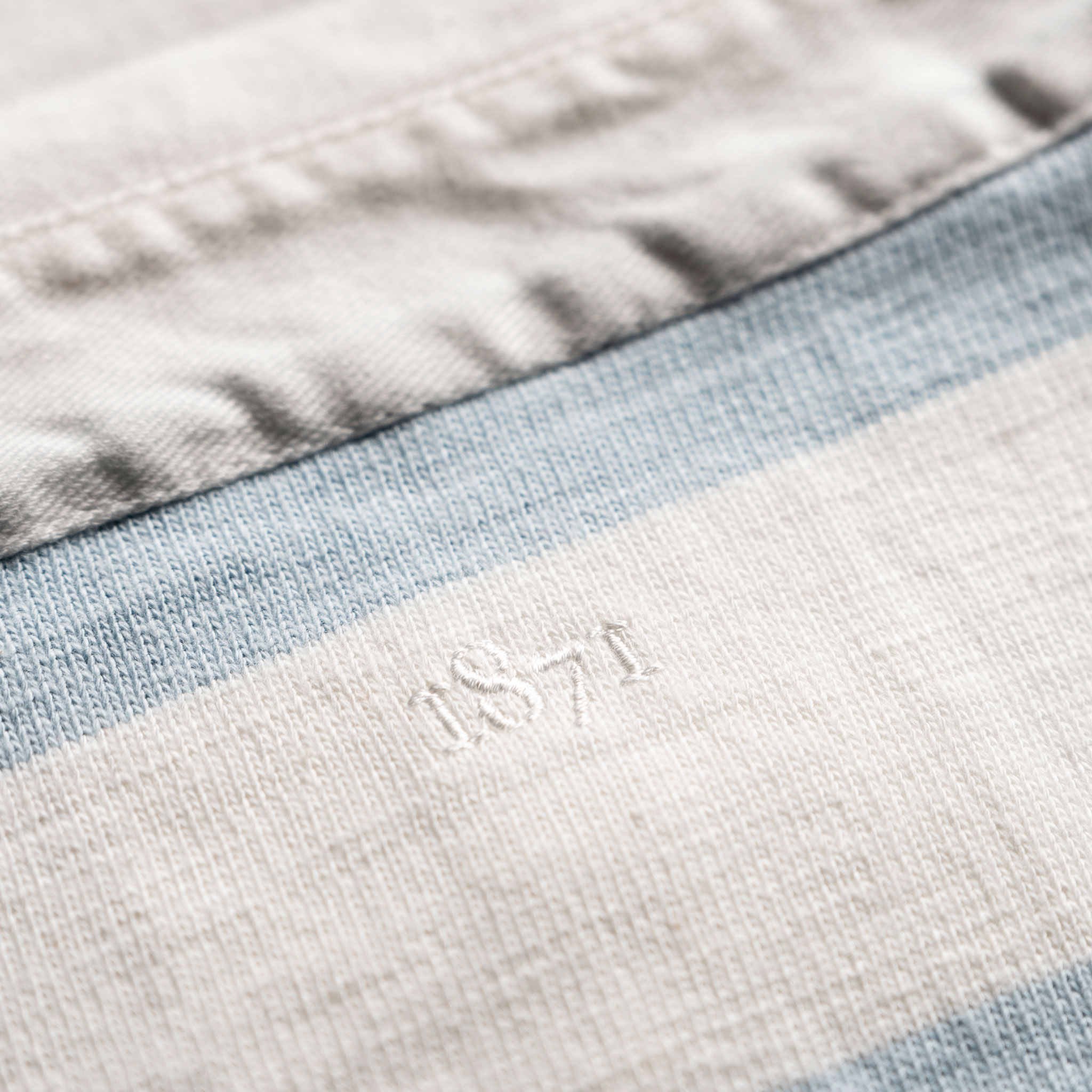Classic Sky Blue and White 1871 Vintage Rugby Shirt_1871