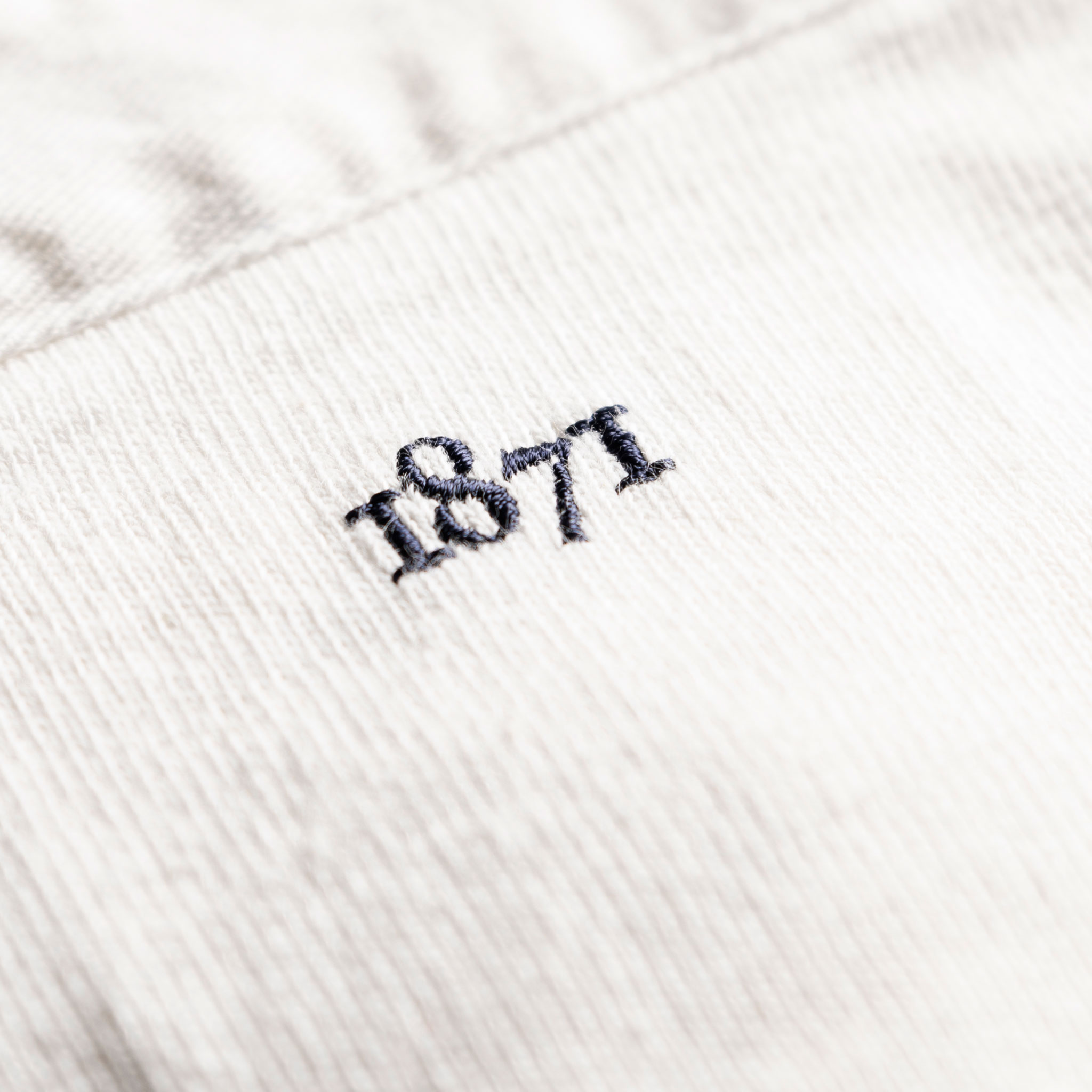 Classic White 1871 Vintage Rugby Shirt_1871