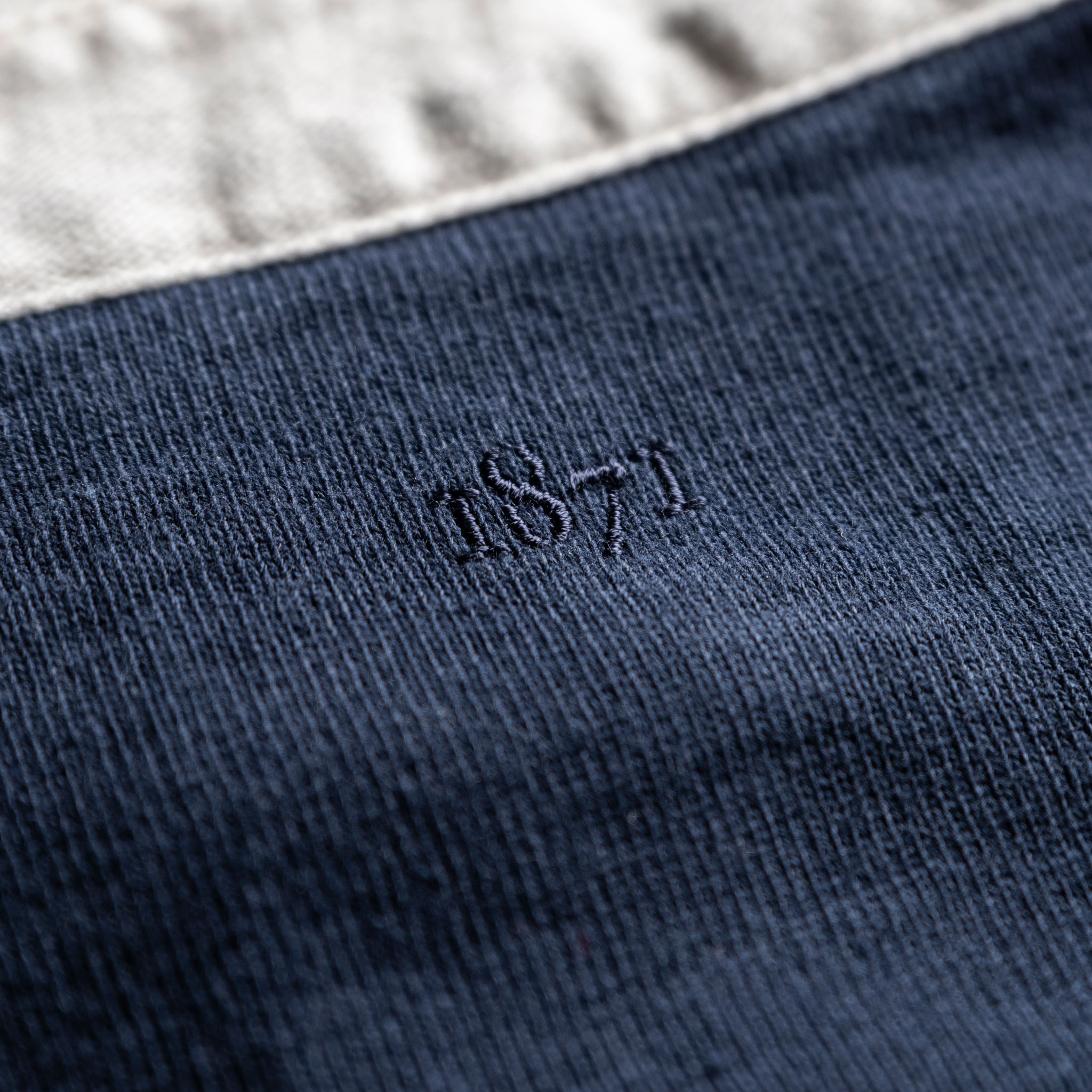 Women's Classic Navy Blue 1871 Vintage Rugby Shirt_1871