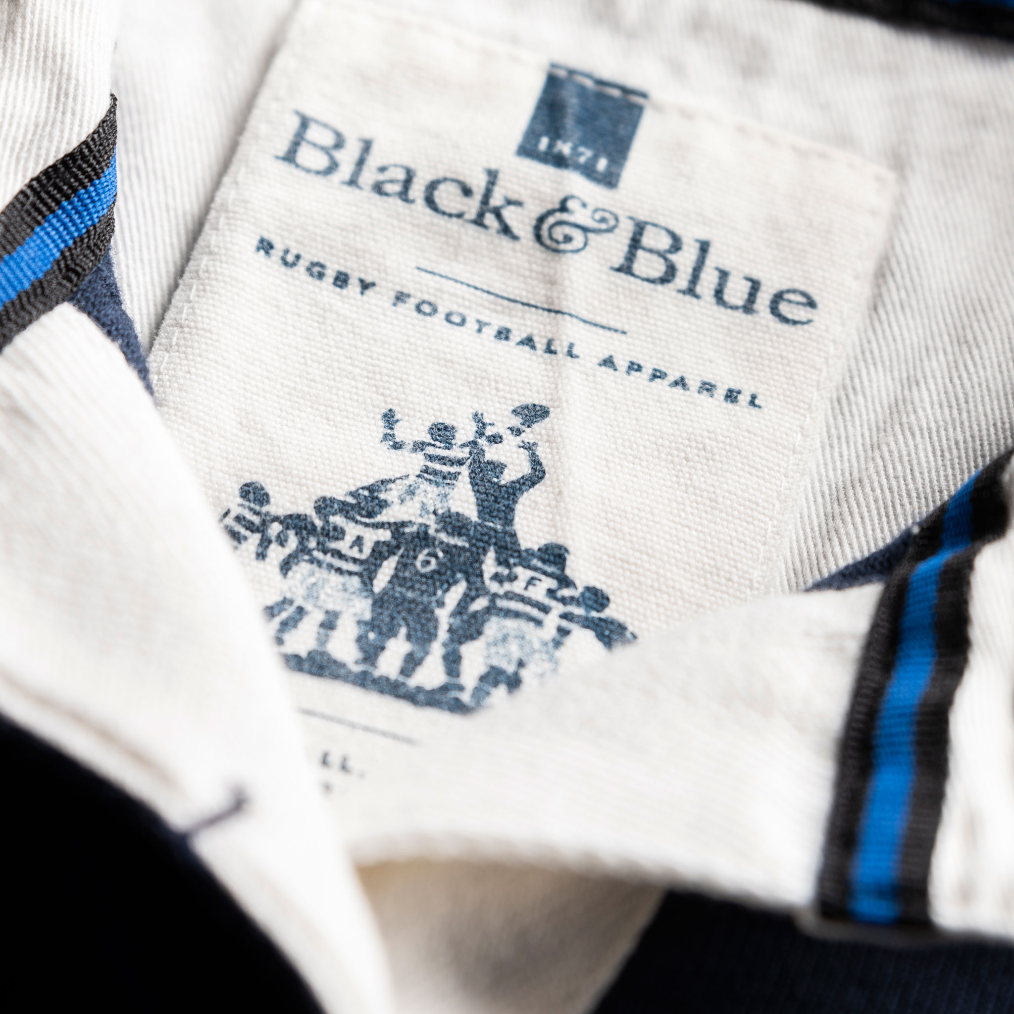 Women's Classic Navy Blue 1871 Vintage Rugby Shirt_BB Label