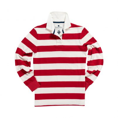 CLASSIC RED & WHITE 1871 WOMEN'S RUGBY SHIRT