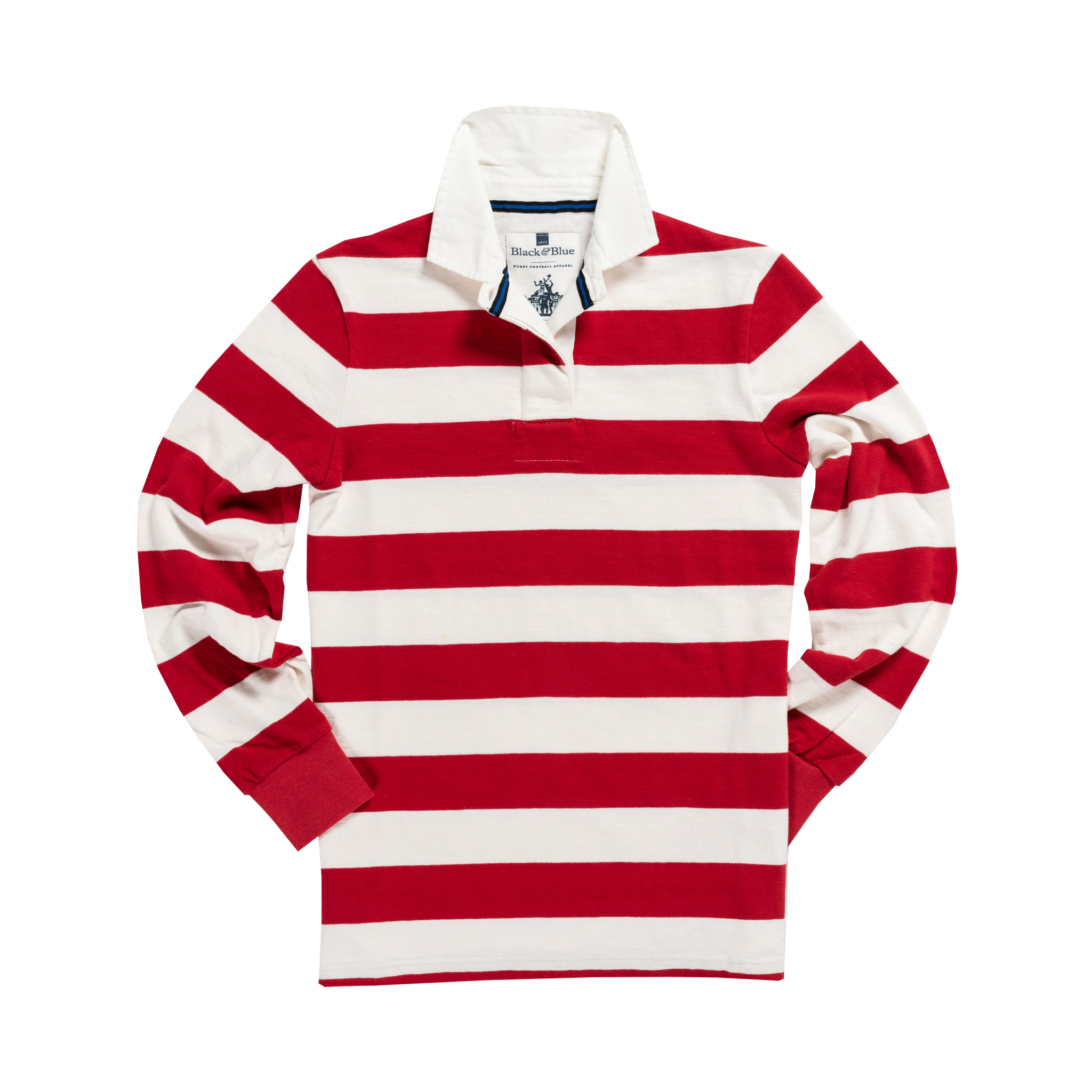 Women's Classic Red and White 1871 Vintage Rugby Shirt