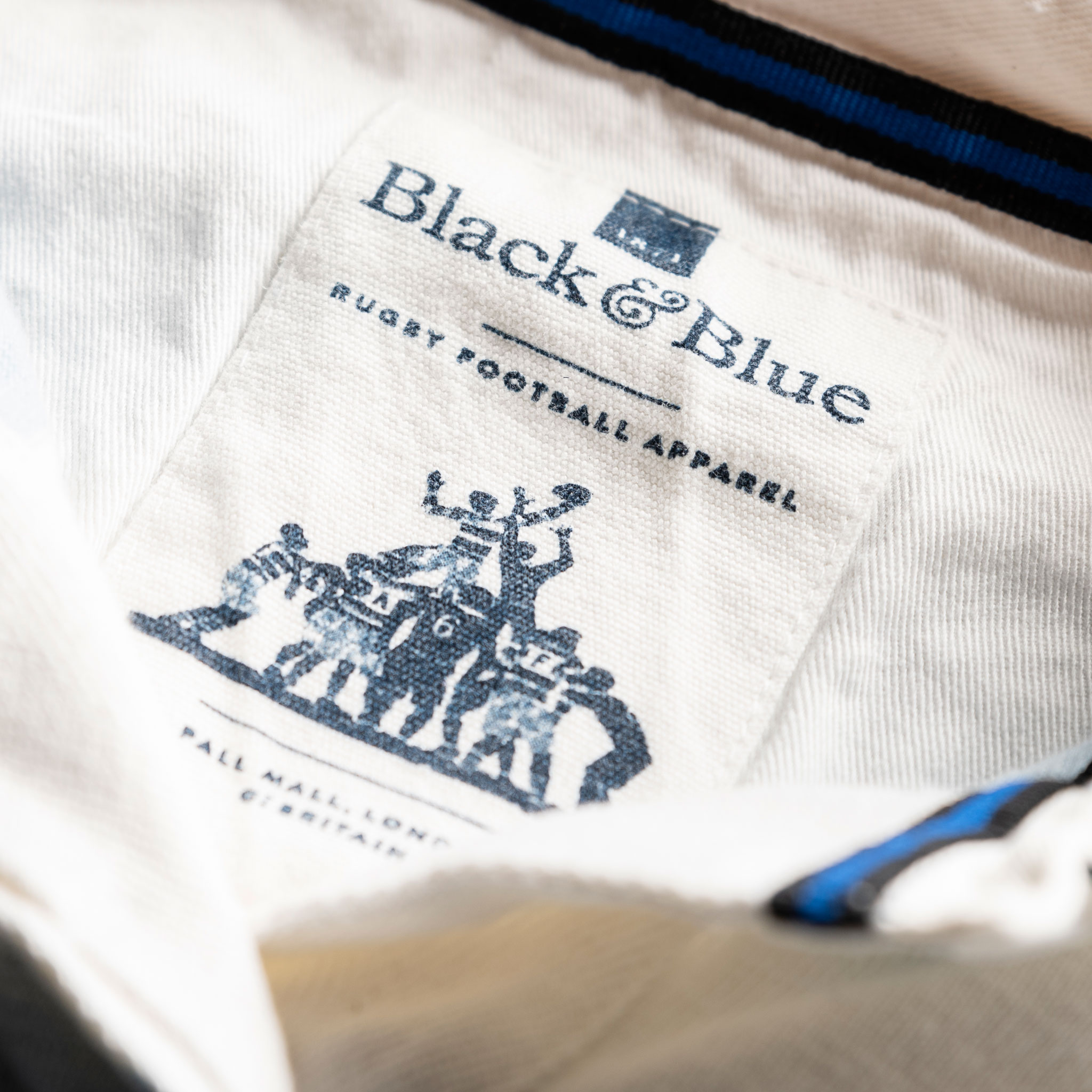 Women's Classic Sky Blue and White 1871 Vintage Rugby Shirt_1871_BB Label