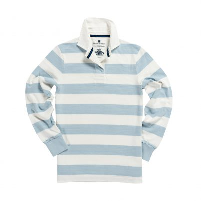 CLASSIC SKY BLUE & WHITE 1871 WOMEN'S RUGBY SHIRT