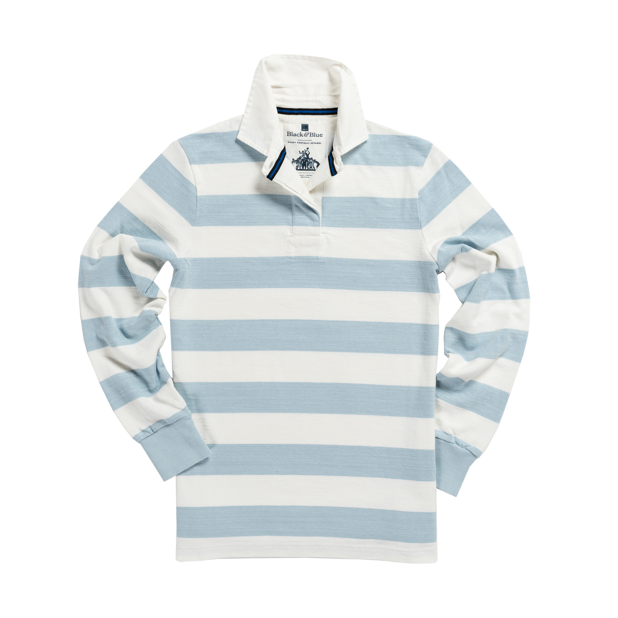 Women's Classic Sky Blue and White 1871 Vintage Rugby Shirt