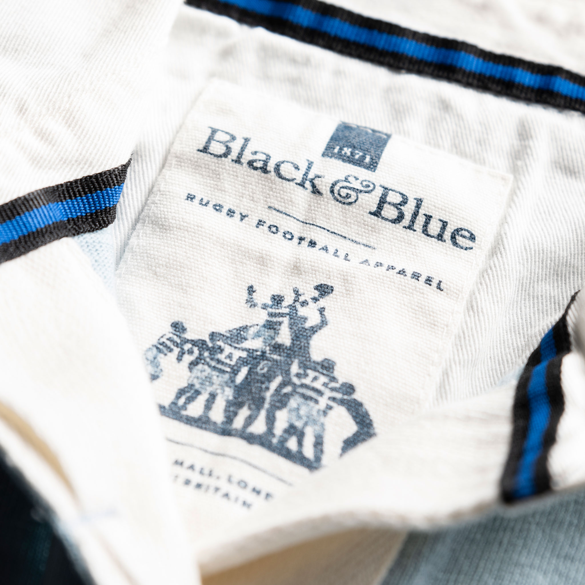 Women's Classic Sky Blue 1871 Vintage Rugby Shirt_BB Label